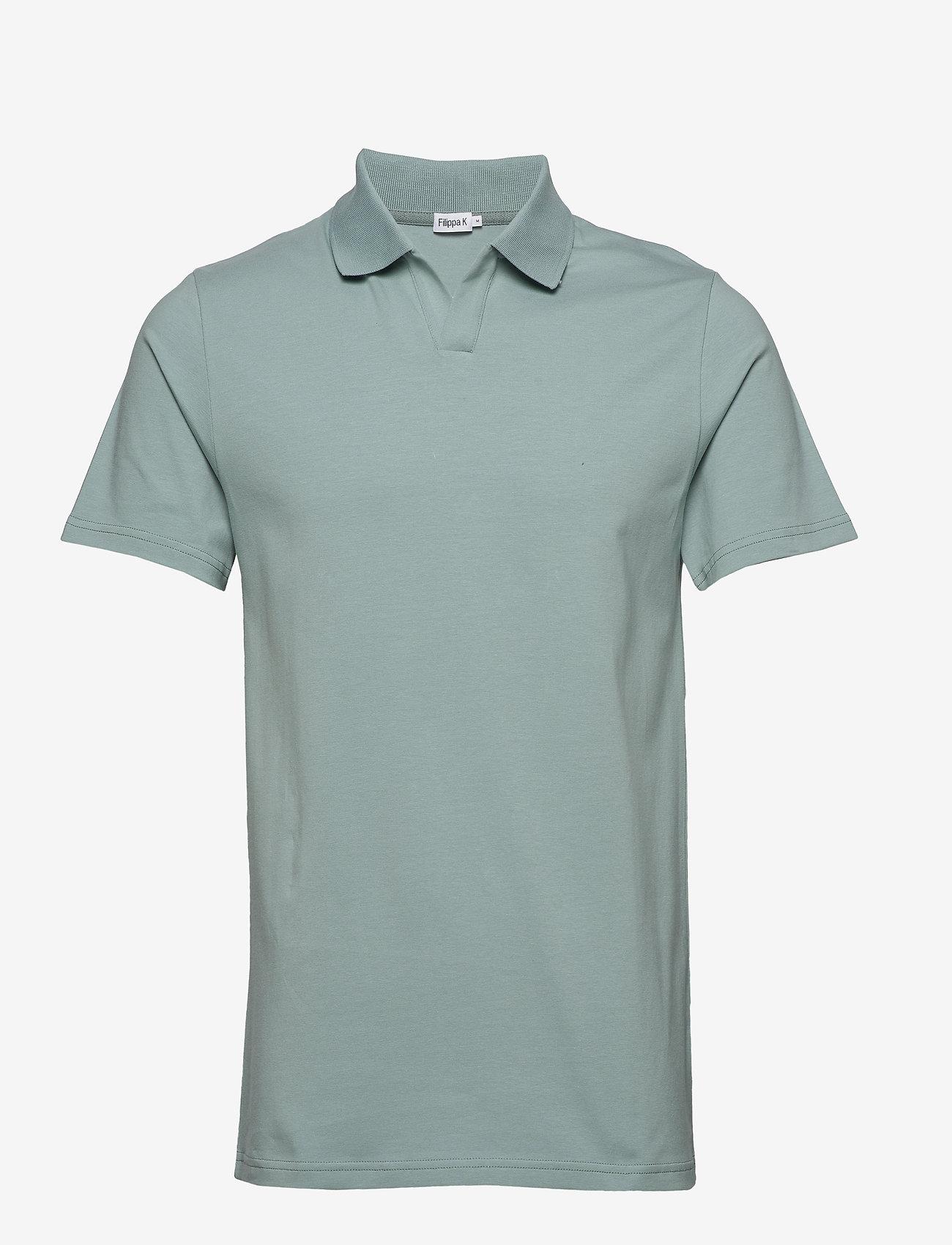 Filippa K - M. Lycra Polo T-Shirt - korte mouwen - mint powde - 0