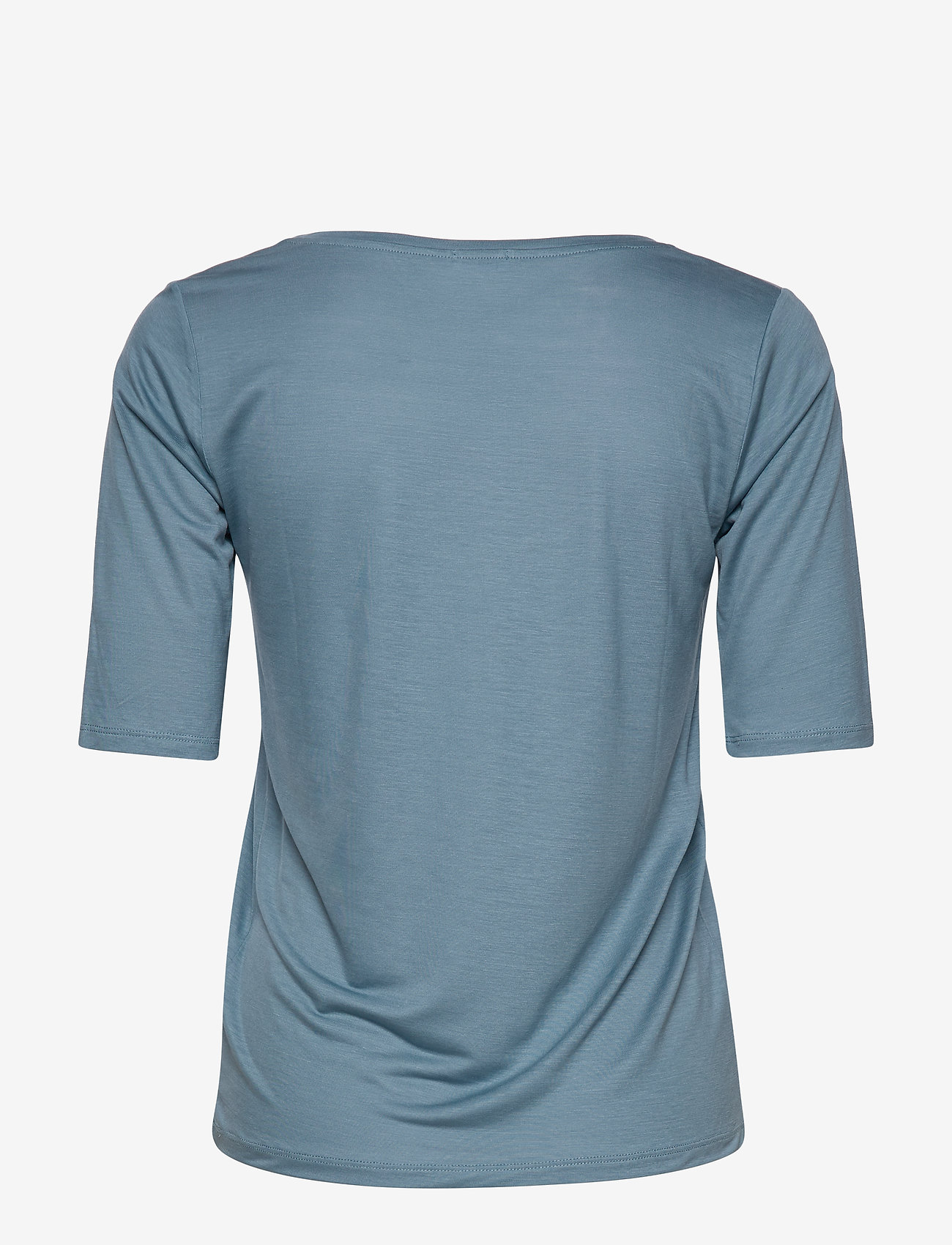 Filippa K - Tencel Scoop-neck Tee - basic t-shirts - blue heave