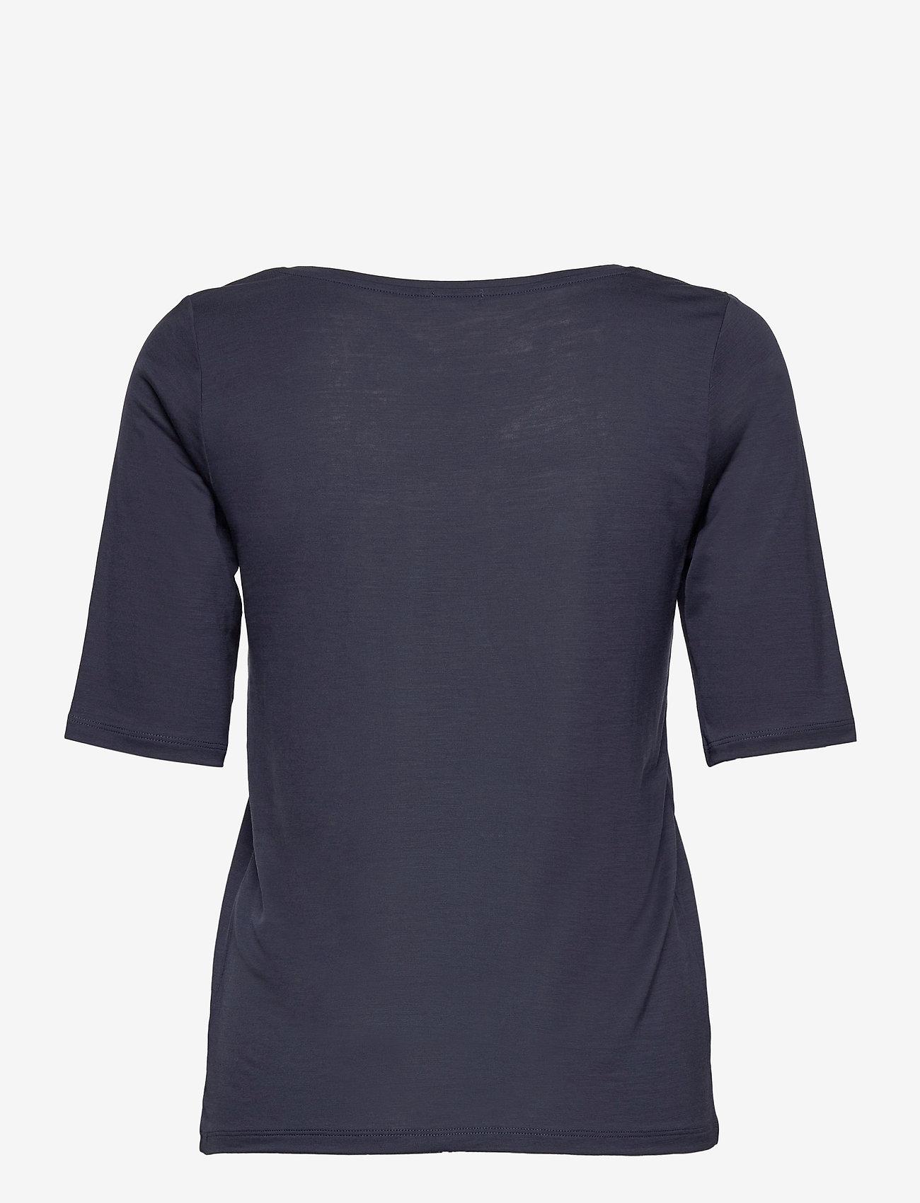 Filippa K - Tencel Scoop-neck Tee - t-shirts - indigo - 1