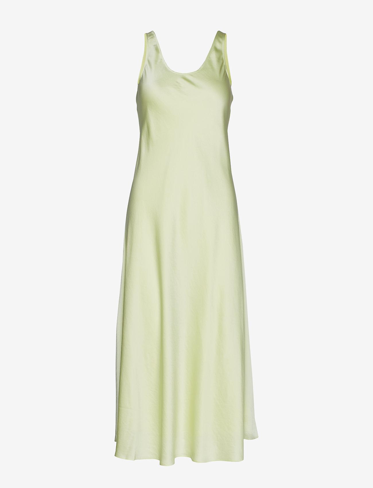 Filippa K - Long Satin Slip dress - kveldskjoler - pale lime - 0