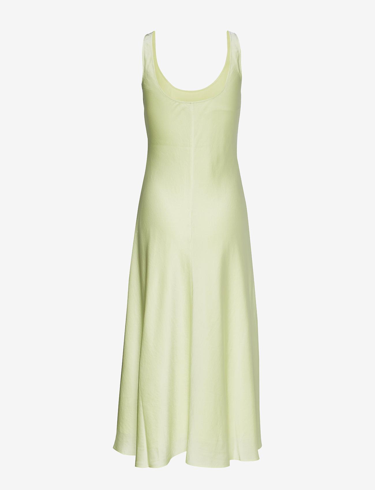 Filippa K - Long Satin Slip dress - kveldskjoler - pale lime - 1