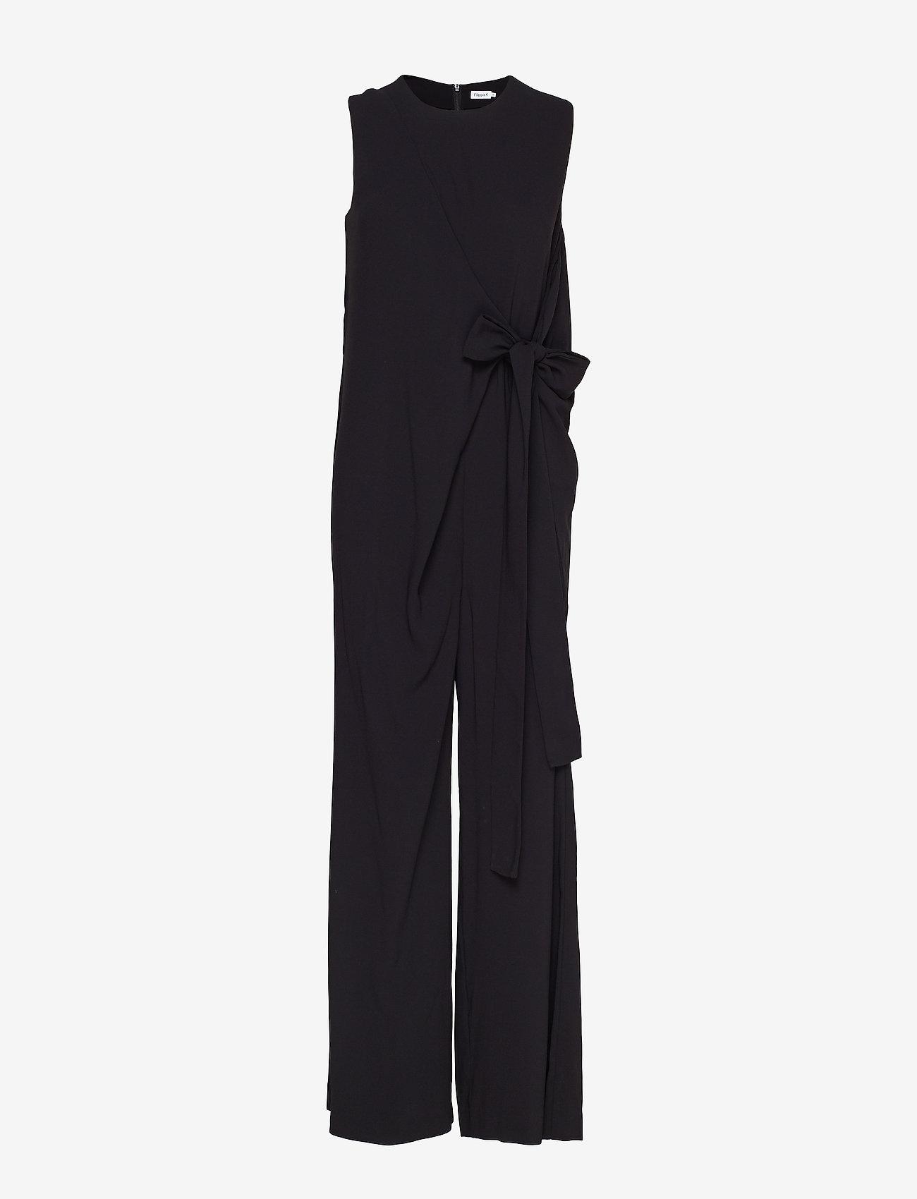 Filippa K - Tie Waist Jumpsuit - jumpsuits - black - 0
