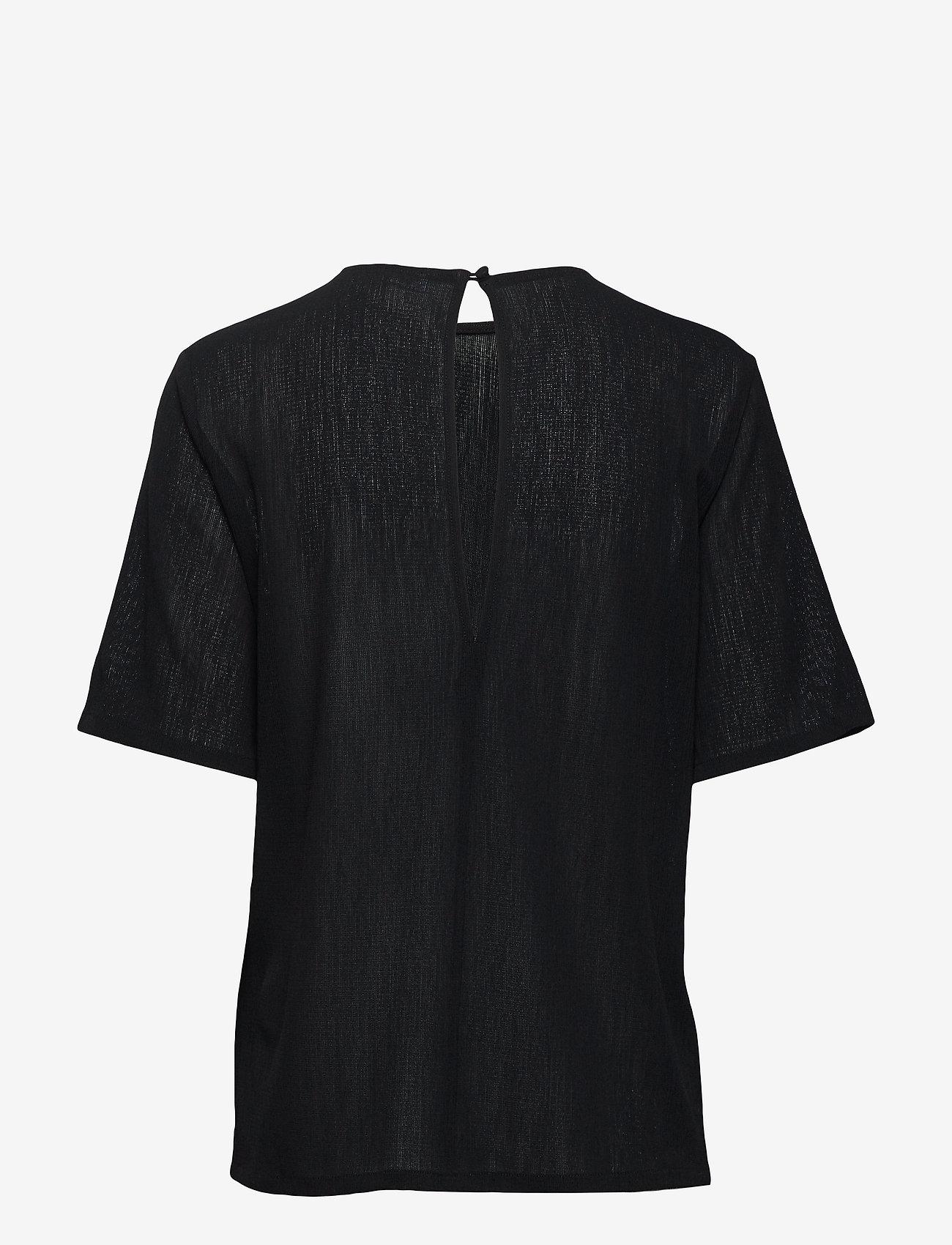 Filippa K - Mesh Tee - t-shirts - black - 1