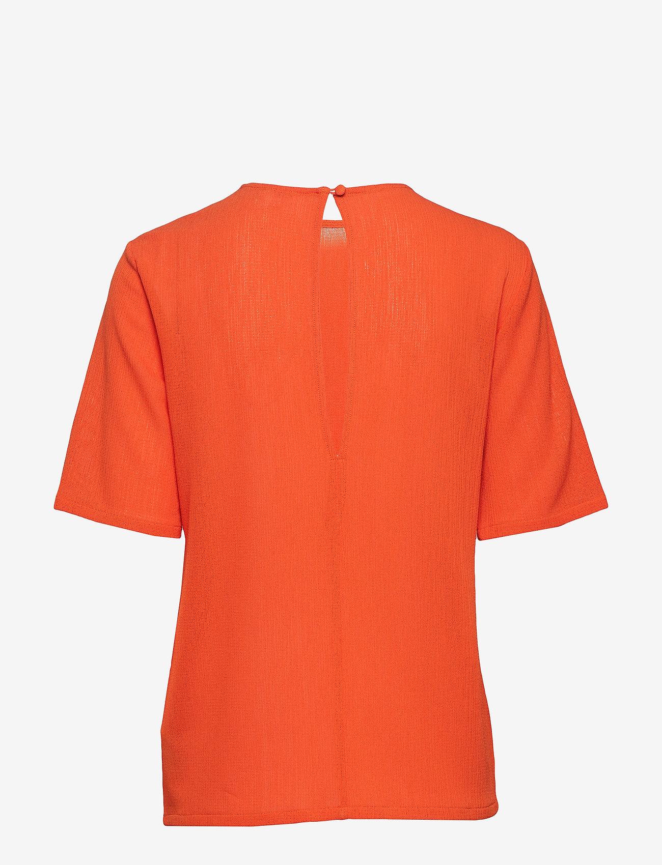 Filippa K - Mesh Tee - t-shirts - tangerine - 1