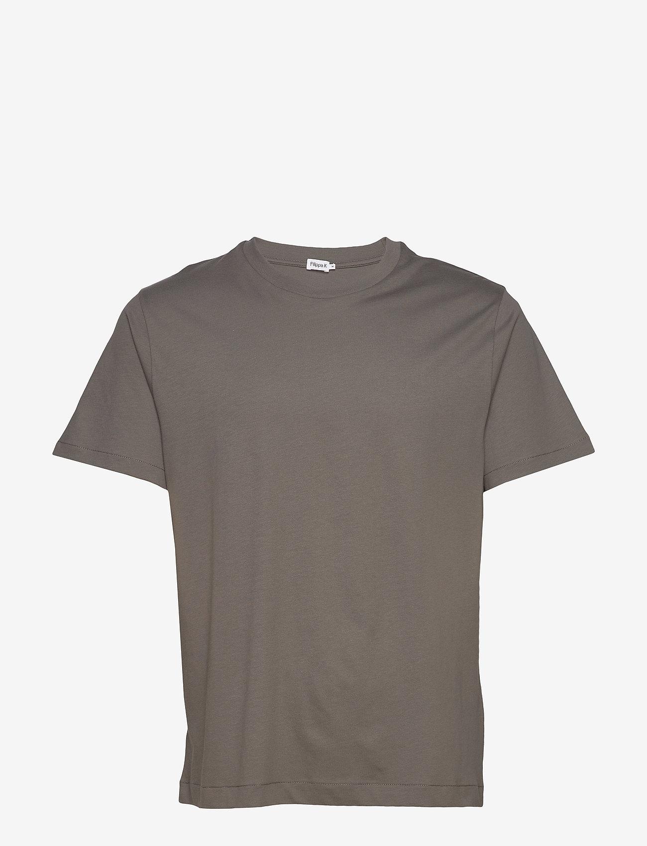 Filippa K - M. Single Jersey Tee - t-shirts basiques - green grey - 0