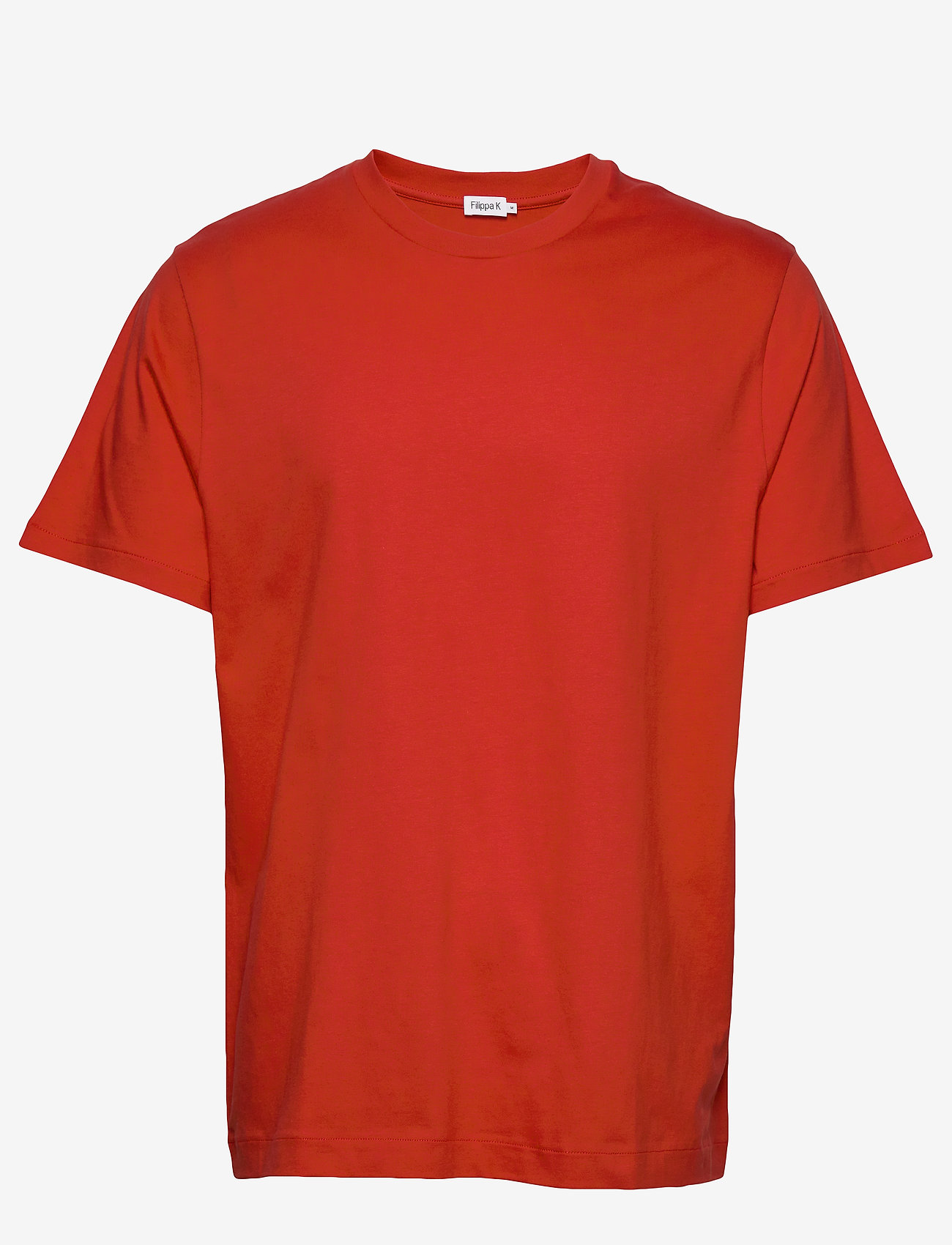 Filippa K - M. Single Jersey Tee - t-shirts basiques - red orange - 0