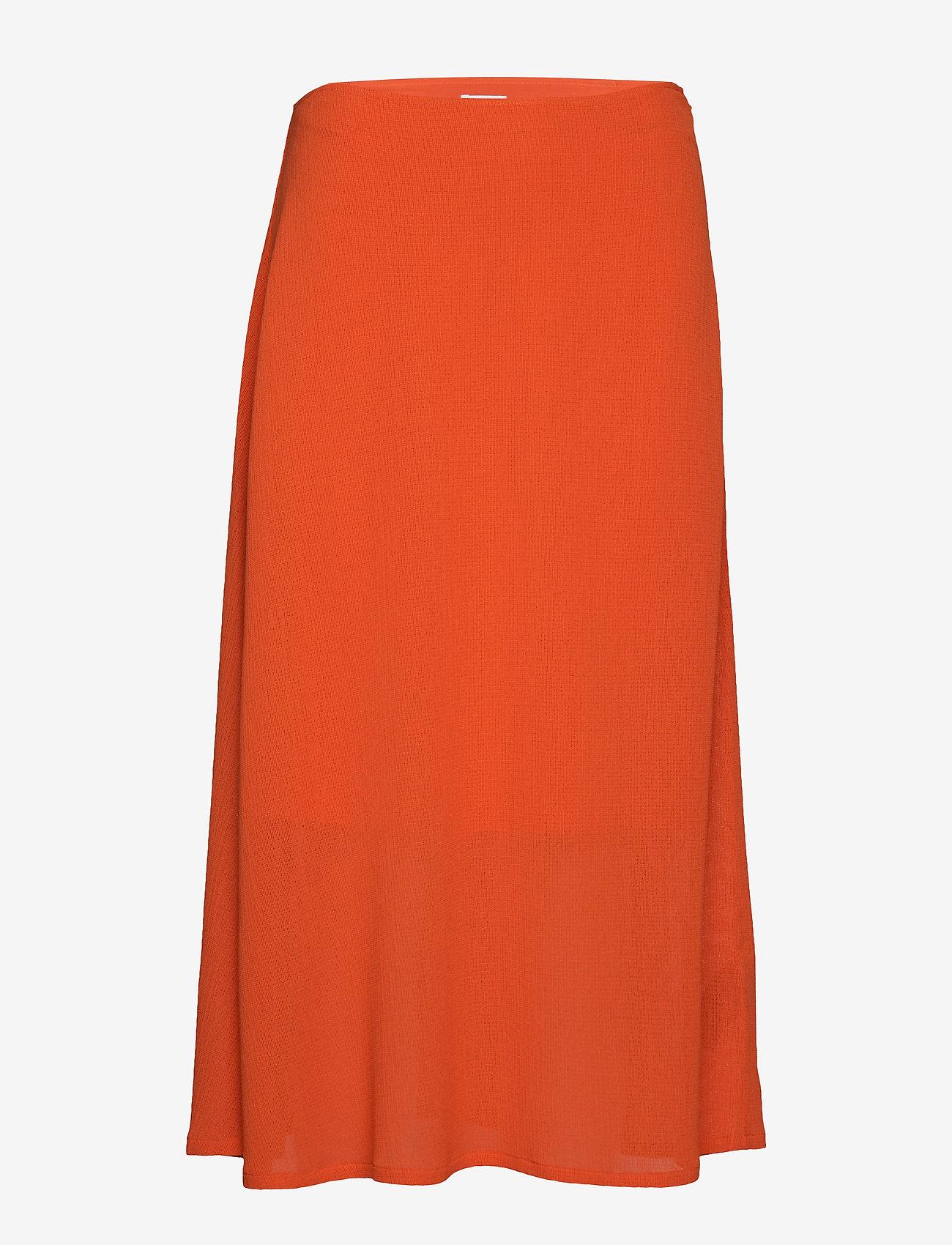 Filippa K - Mesh Skirt - maxi nederdele - tangerine - 0
