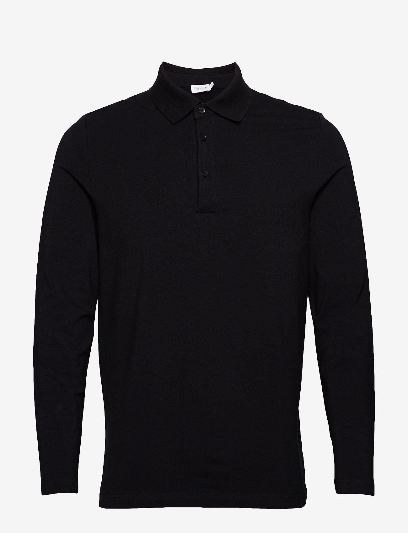 Filippa K - M. Luke Lycra Polo Shirt - lange mouwen - black - 0