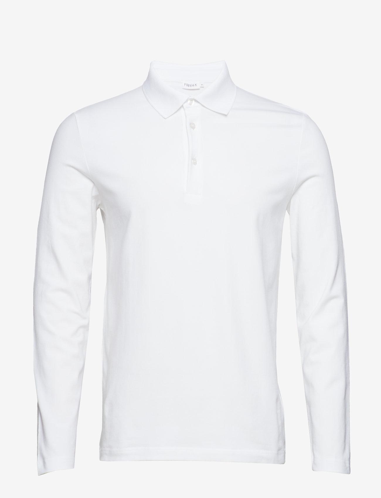 Filippa K - M. Luke Lycra Polo Shirt - lange mouwen - white - 0