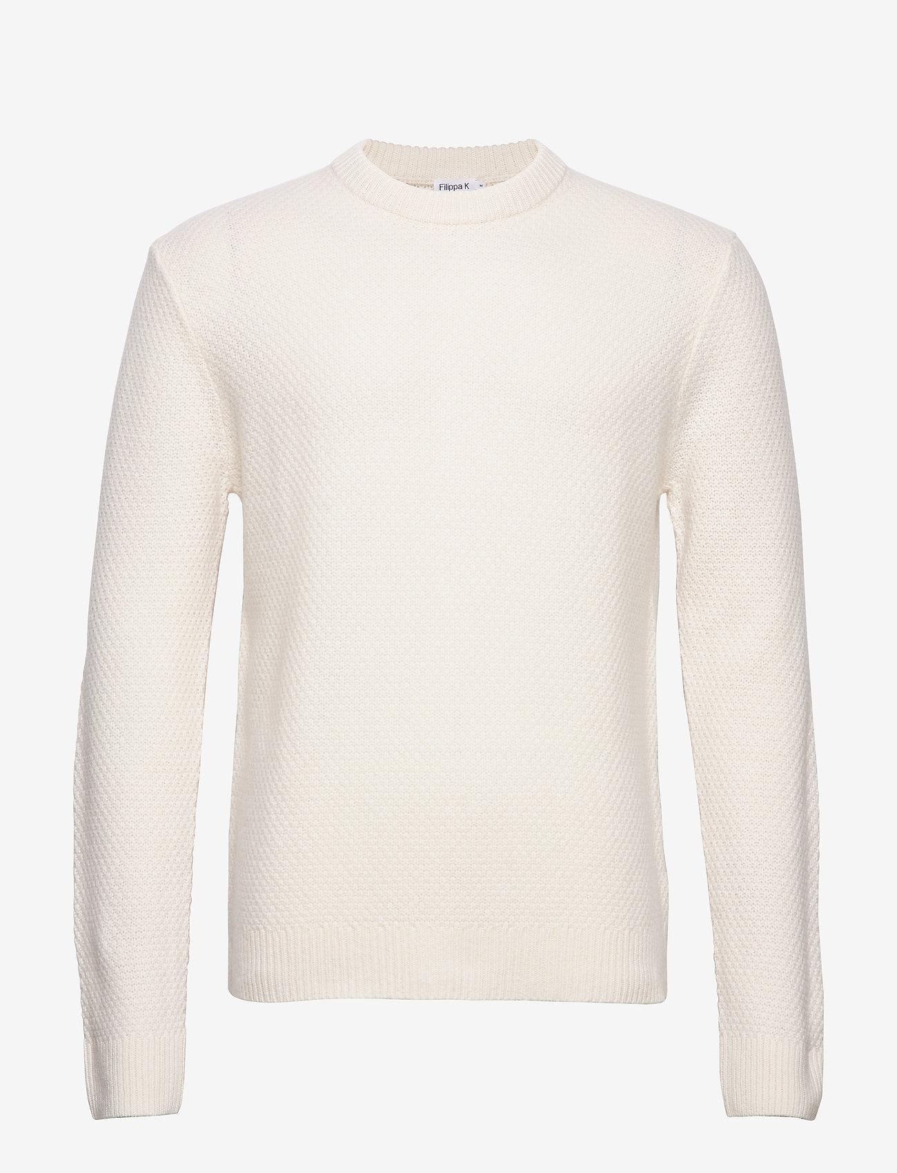 Filippa K - M. Tobias Sweater - basic strik - almond whi - 0