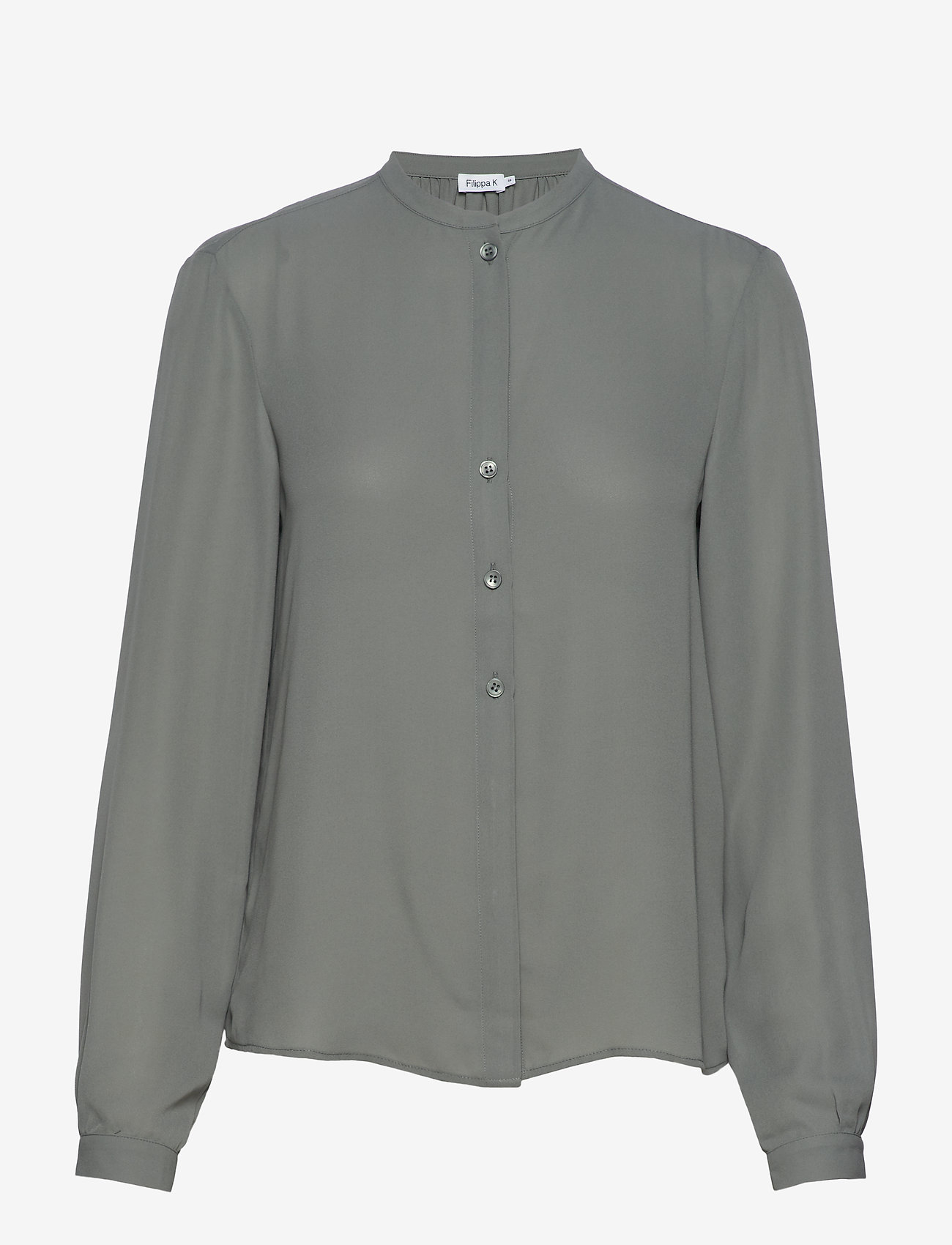 Filippa K - Adele Blouse - long sleeved blouses - mineral gr - 0