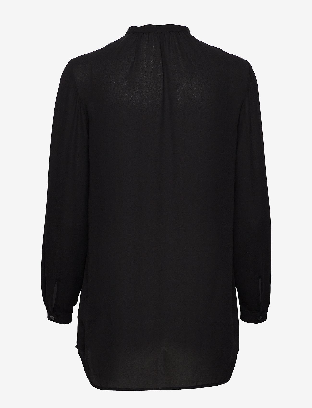 Filippa K - Ada Tunic Blouse - long sleeved blouses - black - 1