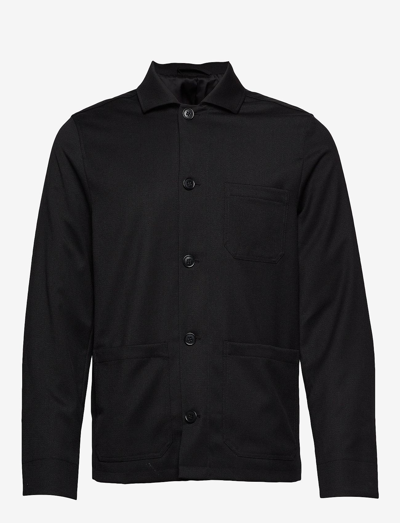 Filippa K - M. Louis Gabardine Jacket - overshirts - black - 0