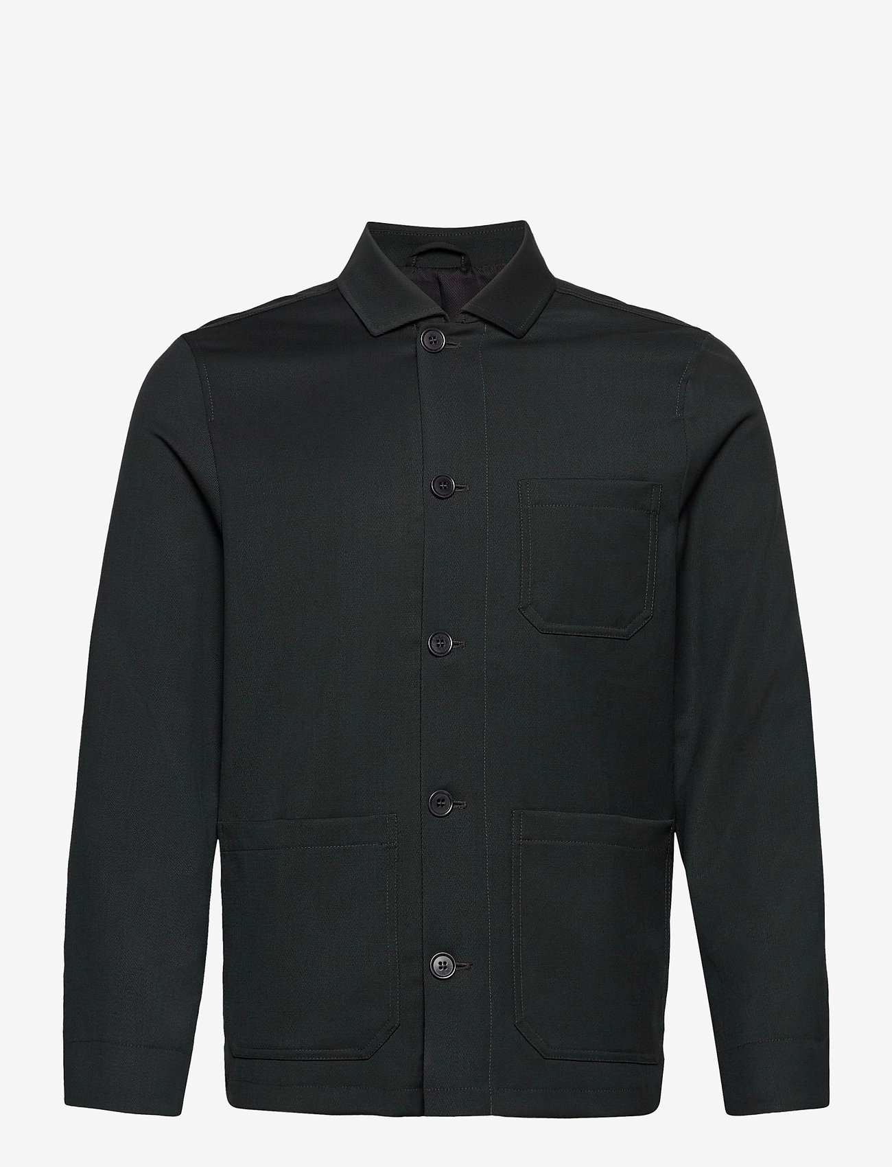 Filippa K - M. Louis Gabardine Jacket - overshirts - dark spruc - 0