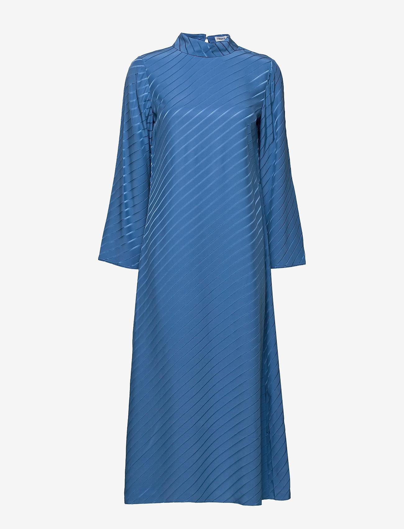 Filippa K - Vanessa Silk Dress - kveldskjoler - sapphire b - 0