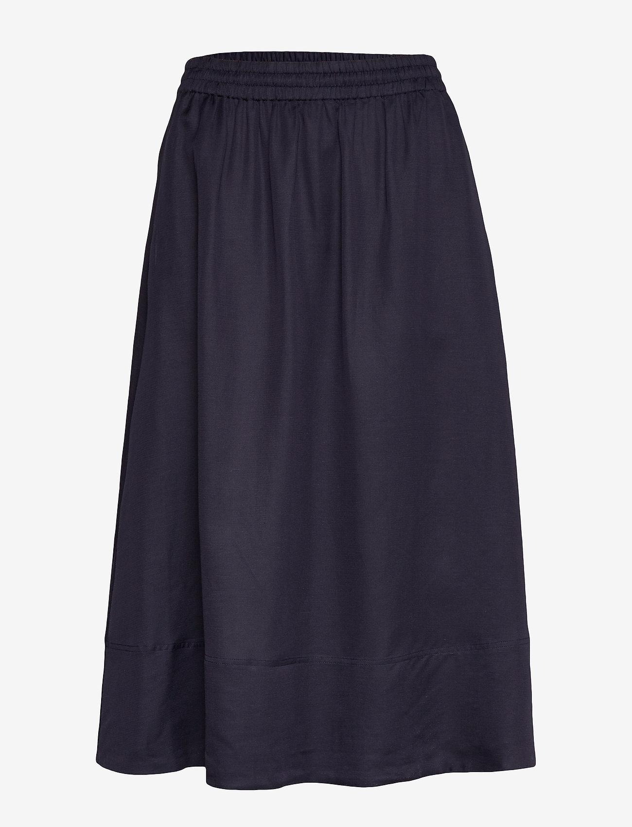 Filippa K - Juliet Skirt - midinederdele - deep blue - 0