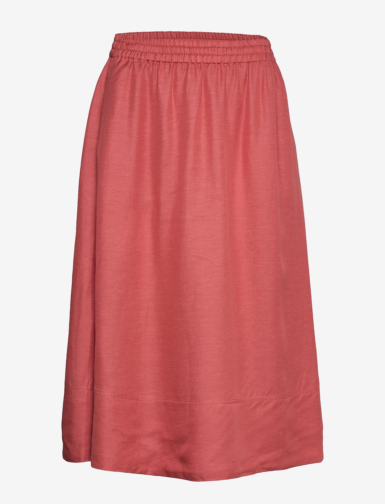 Filippa K - Juliet Skirt - midinederdele - pink cedar - 0