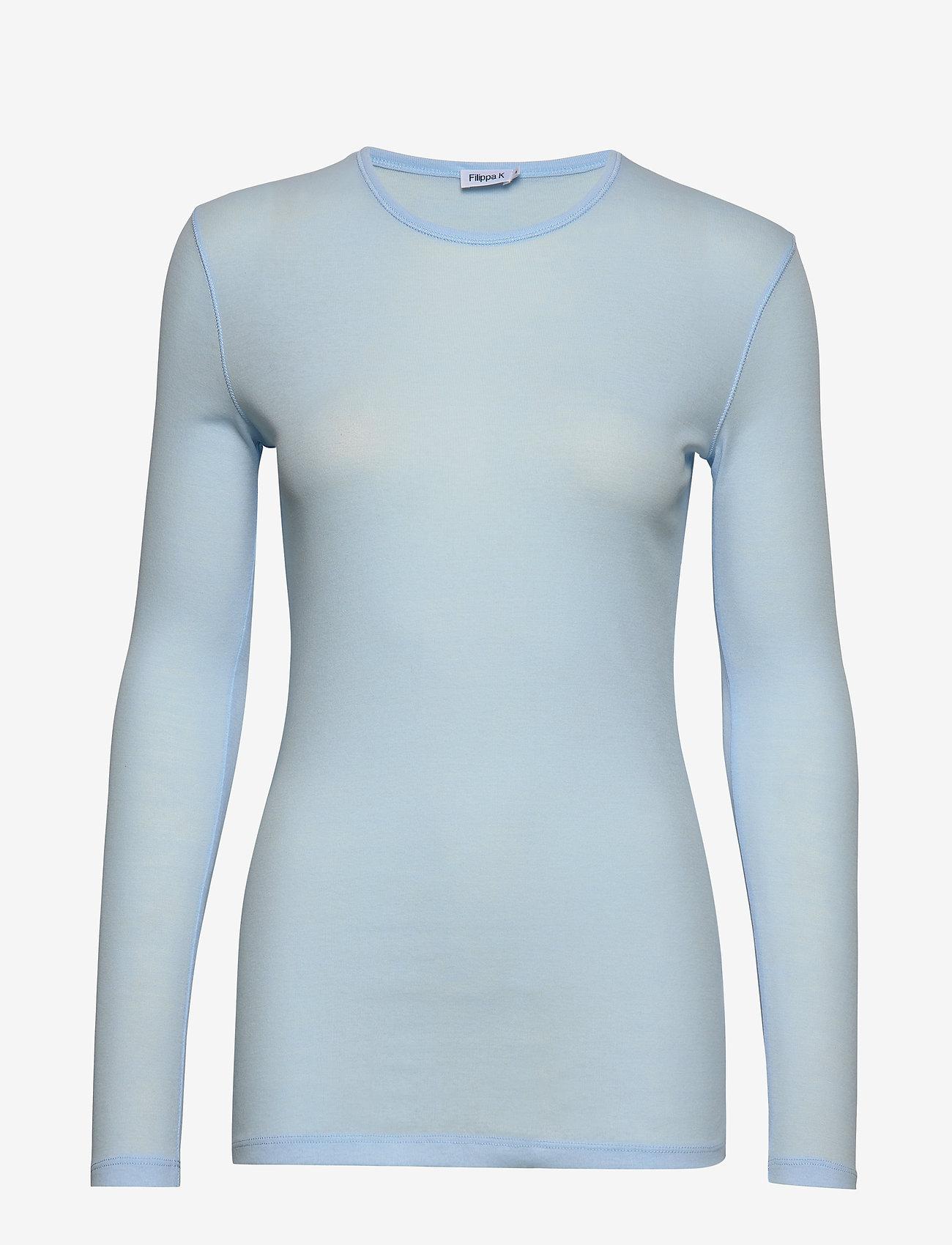 Filippa K - Eloise Top - basic t-shirts - atlantic b - 0