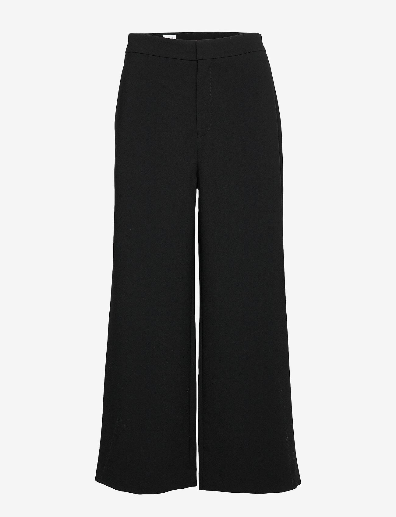 Filippa K - Naia Trouser - bukser med brede ben - black - 0