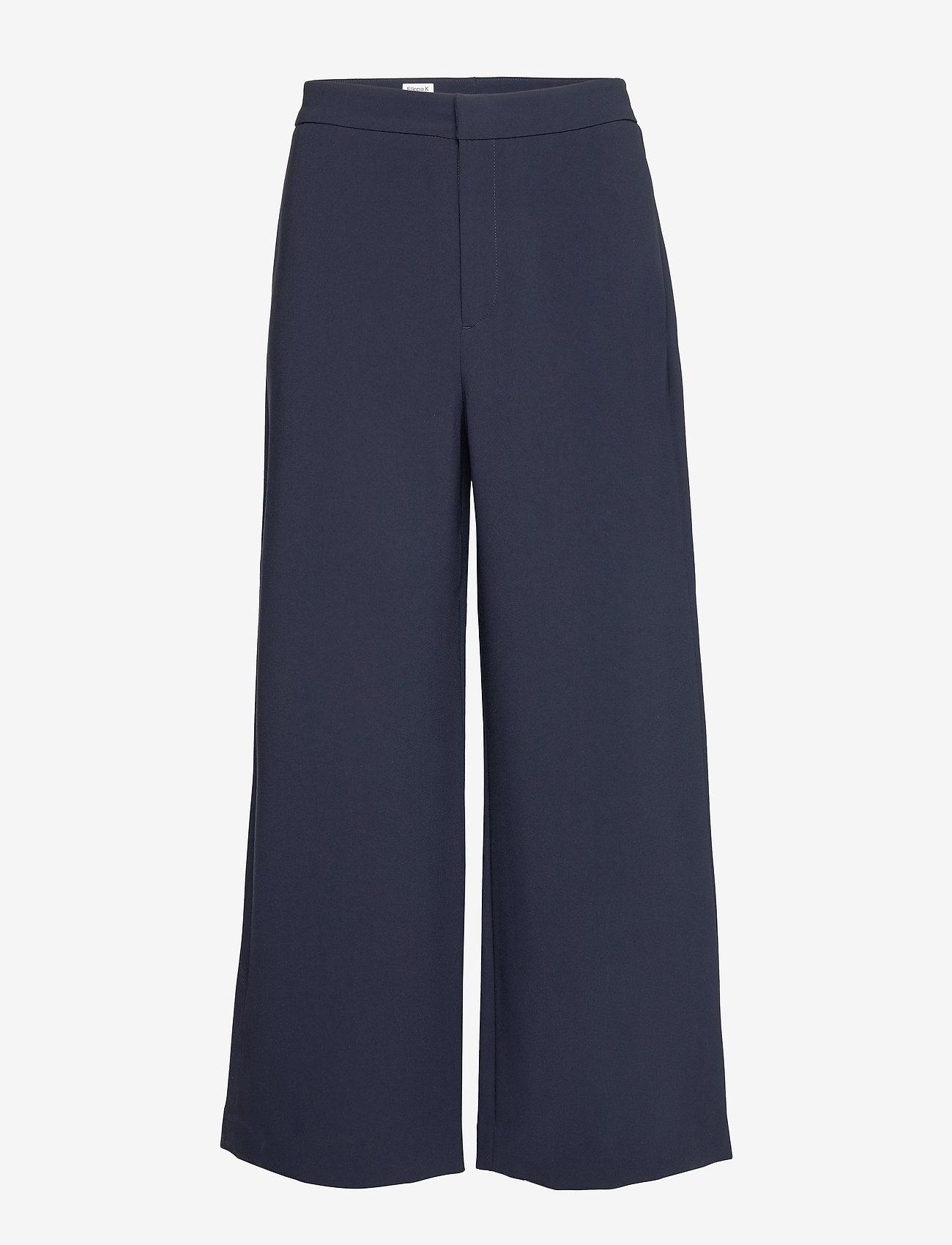 Filippa K - Naia Trouser - bukser med brede ben - navy - 0