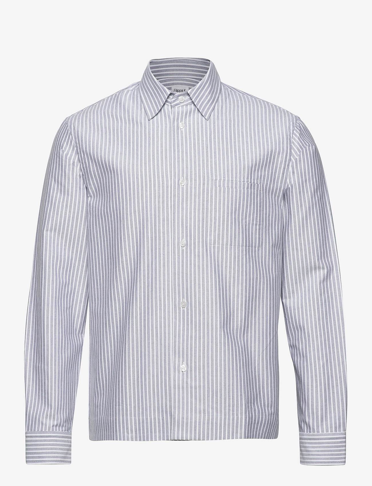 Filippa K - M. Zach Striped Overshirt - overshirts - blue grey/ - 0