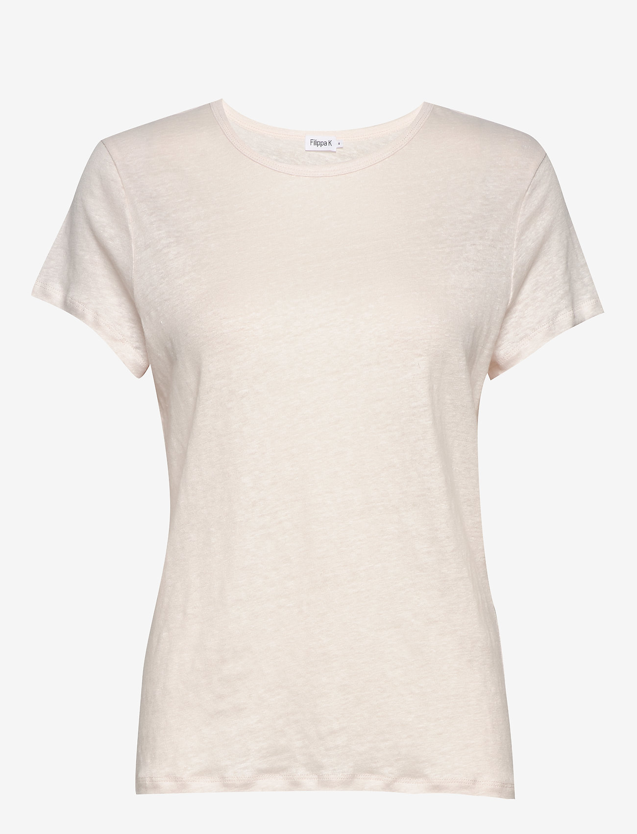 Filippa K - Hazel Linen Tee - t-shirts - faded pink - 0