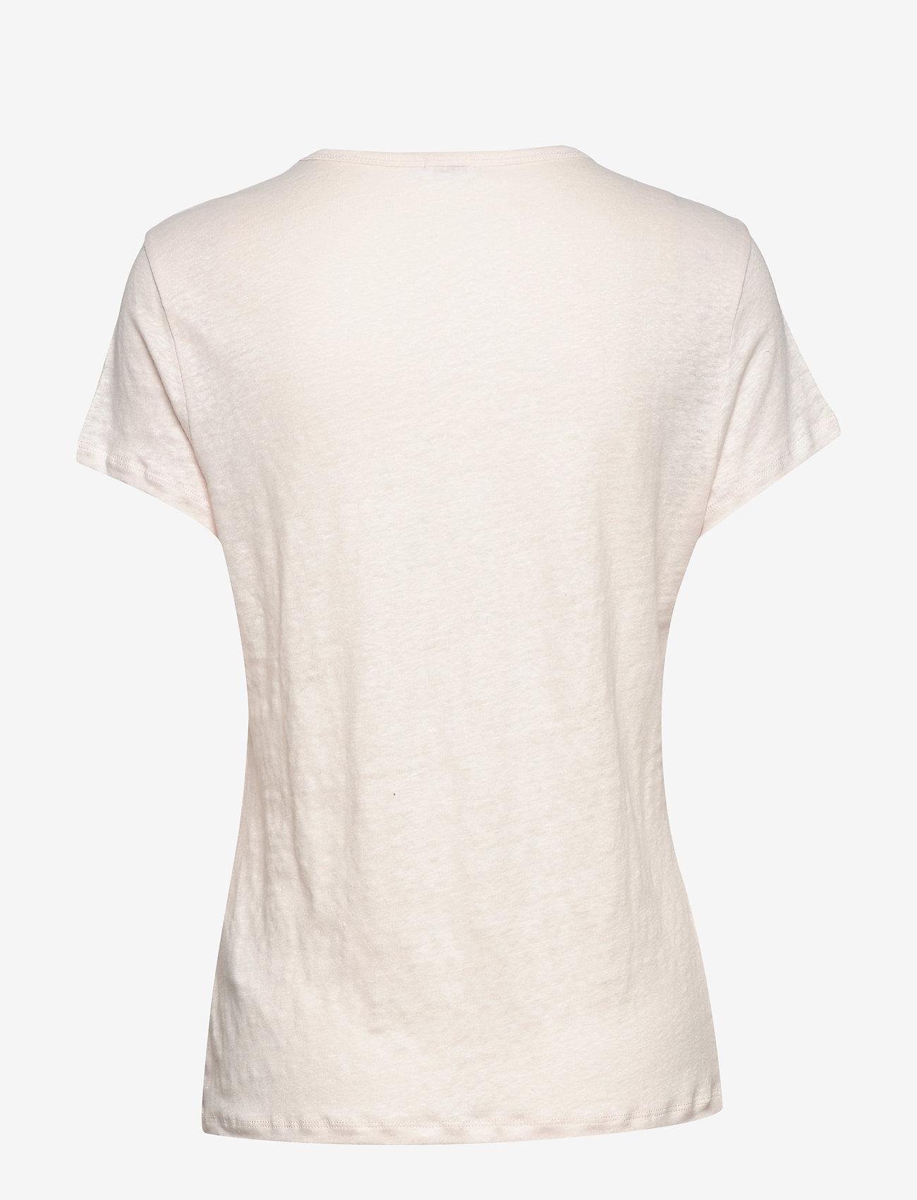 Filippa K - Hazel Linen Tee - t-shirts - faded pink - 1