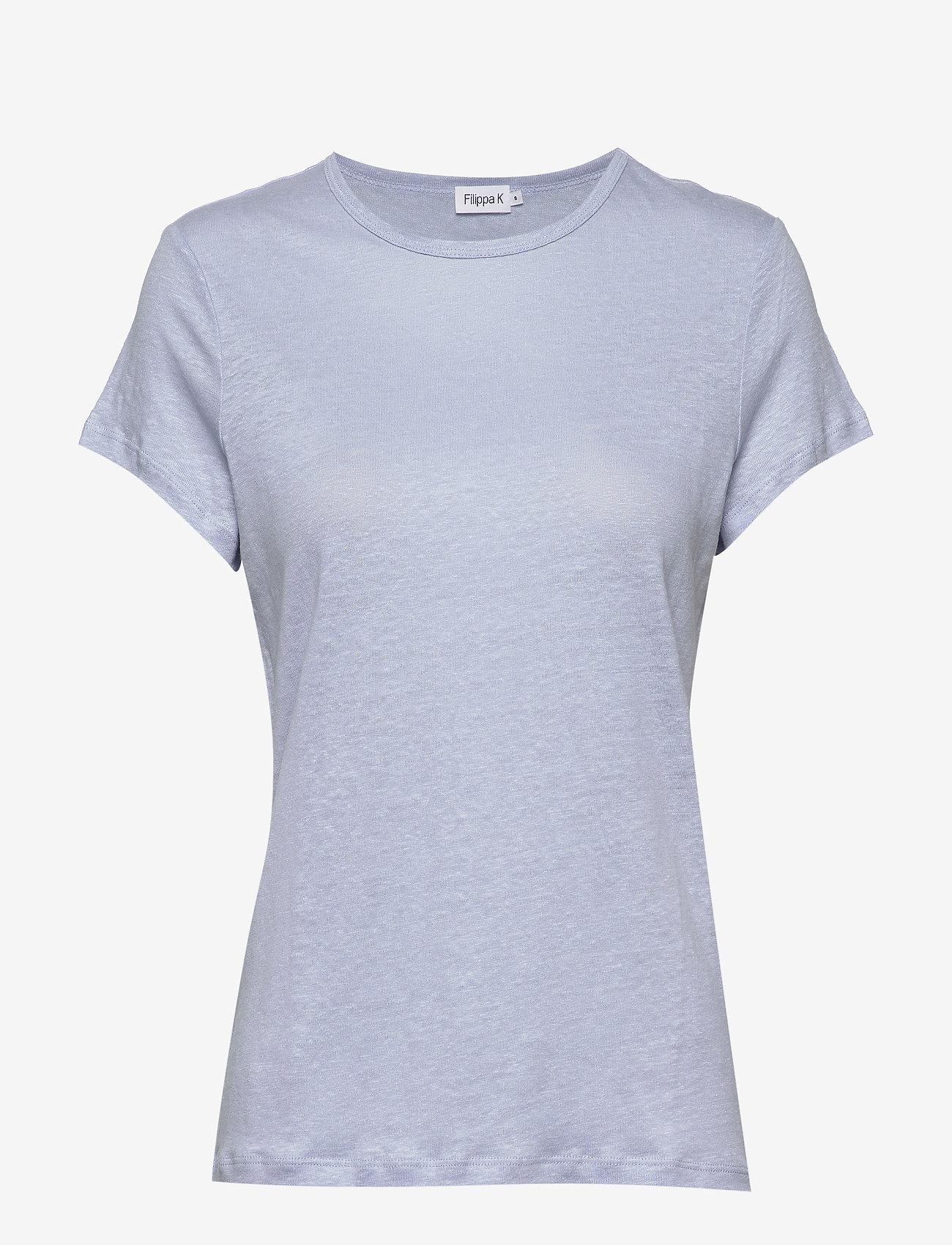 Filippa K - Hazel Tee - basic t-shirts - ice blue