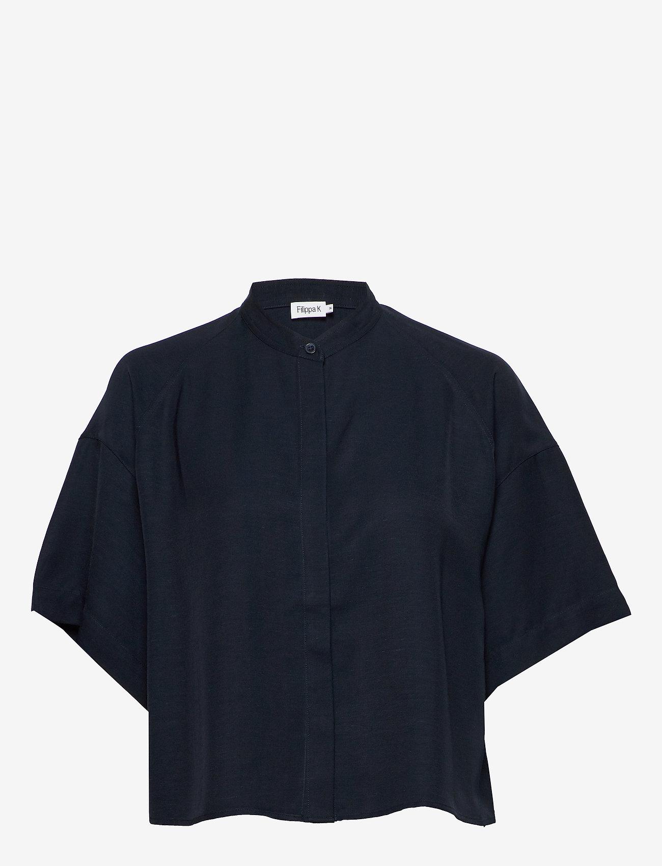 Filippa K - Tammy Shirt - overhemden met korte mouwen - navy - 0