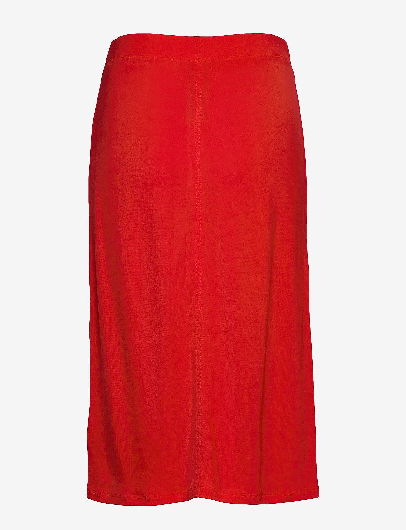Filippa K - Margaret Skirt - midinederdele - red orange - 1