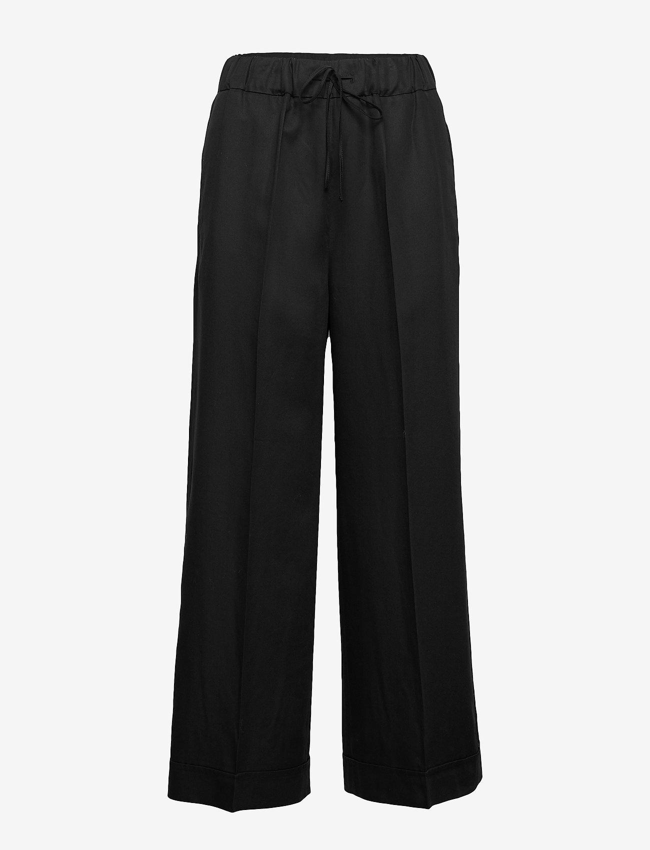 Filippa K - Aria Trouser - bukser med brede ben - black - 0