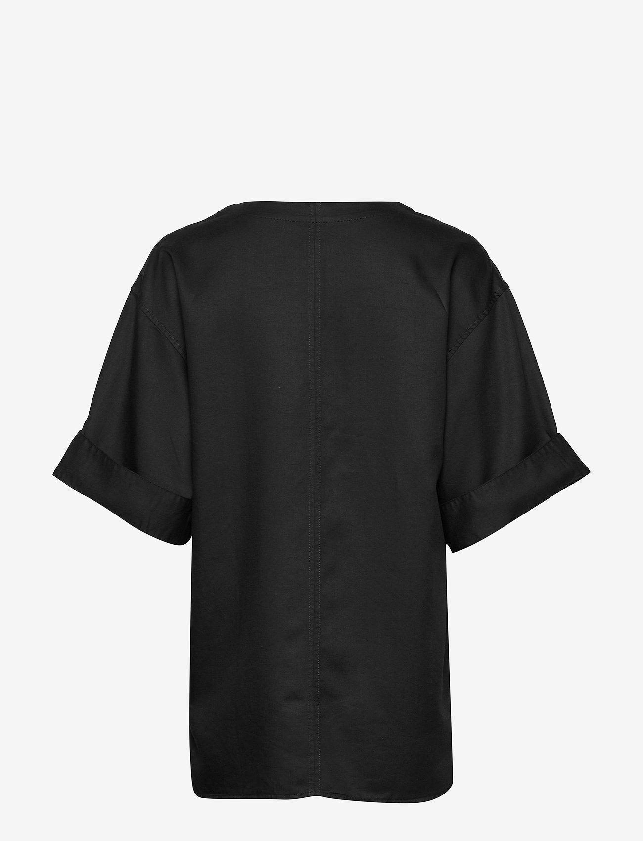 Filippa K - Flora Blouse - blouses med korte mouwen - black - 1