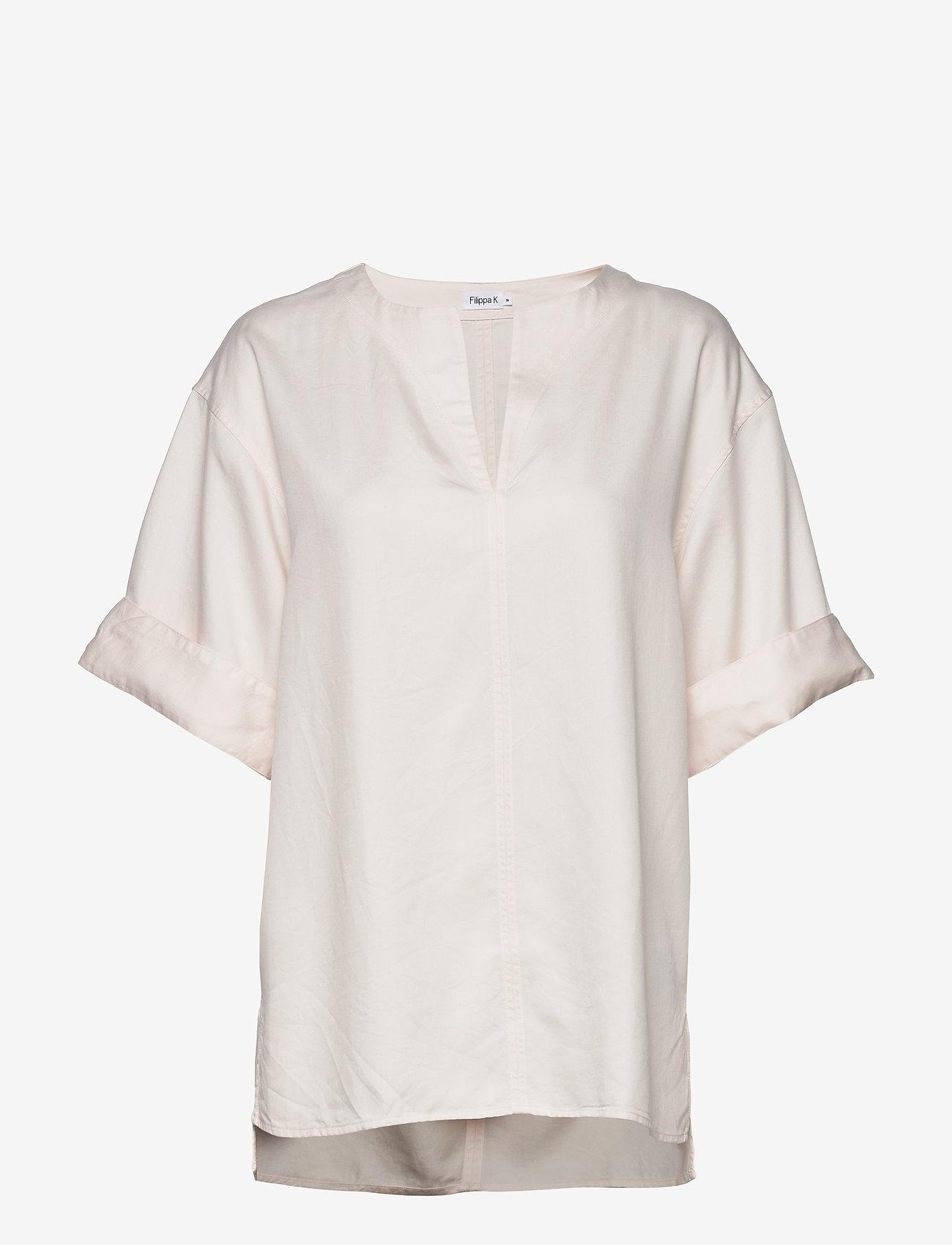 Filippa K - Flora Blouse - short-sleeved blouses - faded pink - 0