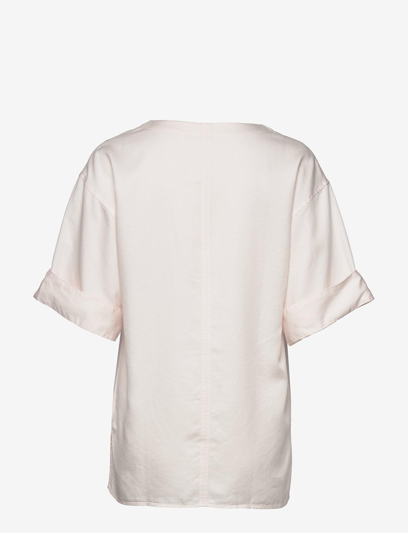Filippa K - Flora Blouse - short-sleeved blouses - faded pink - 1