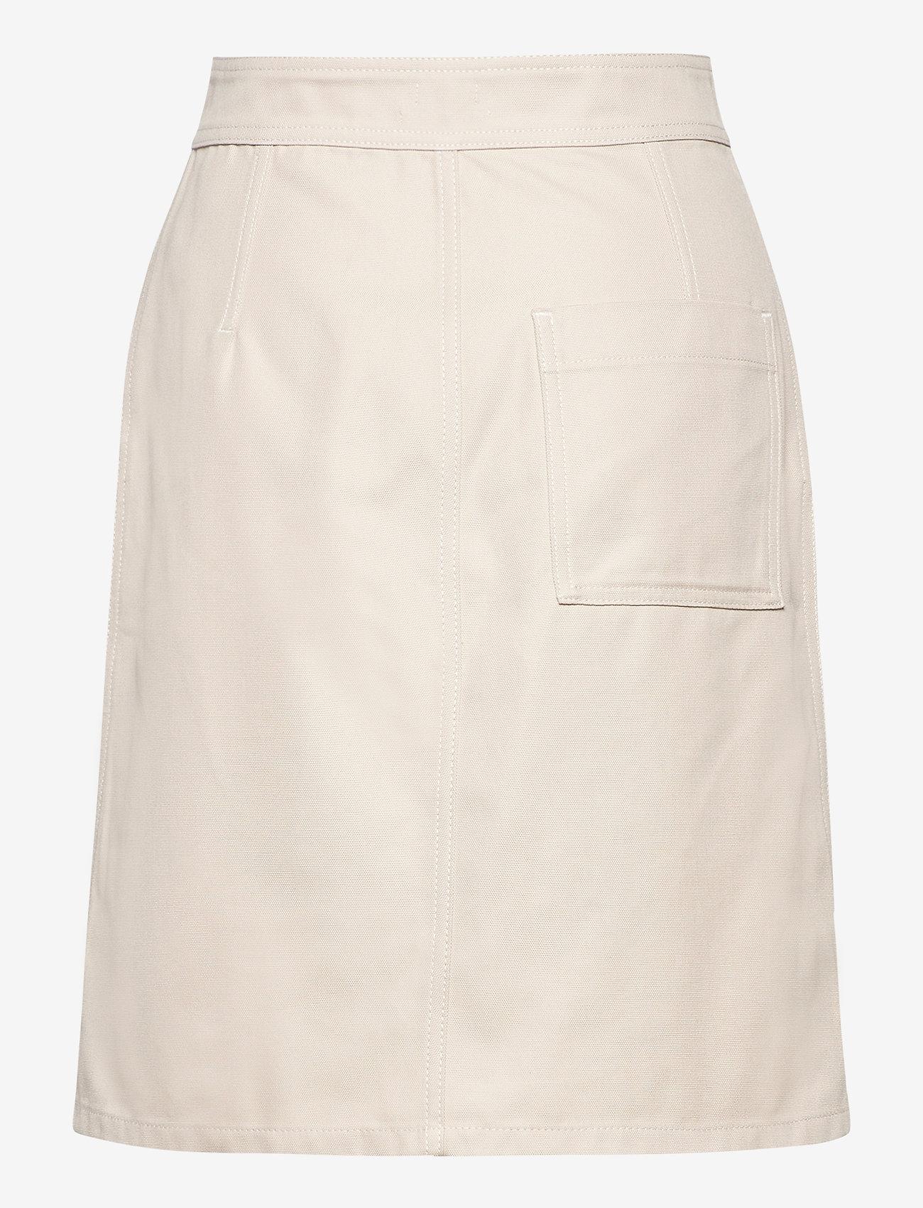 Filippa K - Piper Skirt - midinederdele - ivory - 1