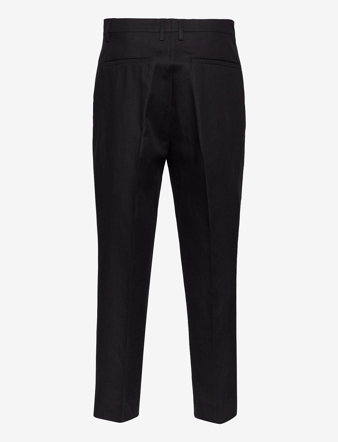 Filippa K - M. Samson Linen Trouser - formele broeken - black - 1