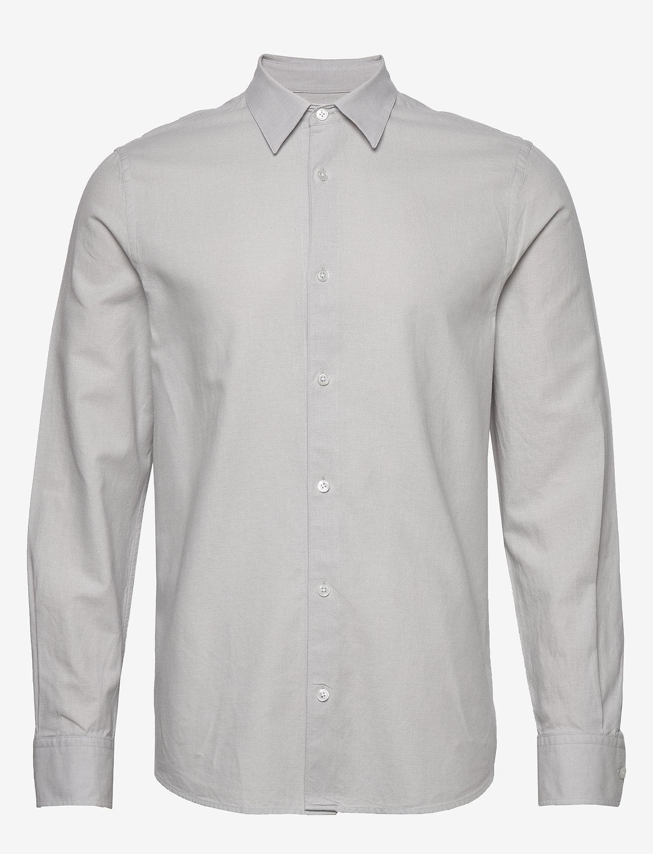 Filippa K - M. Lewis Linen Shirt - basic overhemden - sterling g - 0