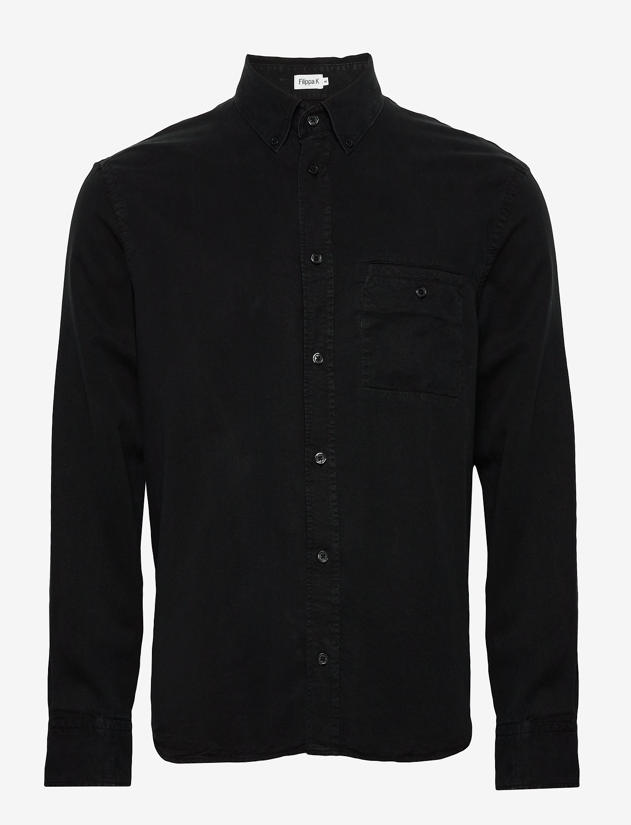 Filippa K - M. Zachary Tencel Shirt - basic overhemden - almost bla - 0