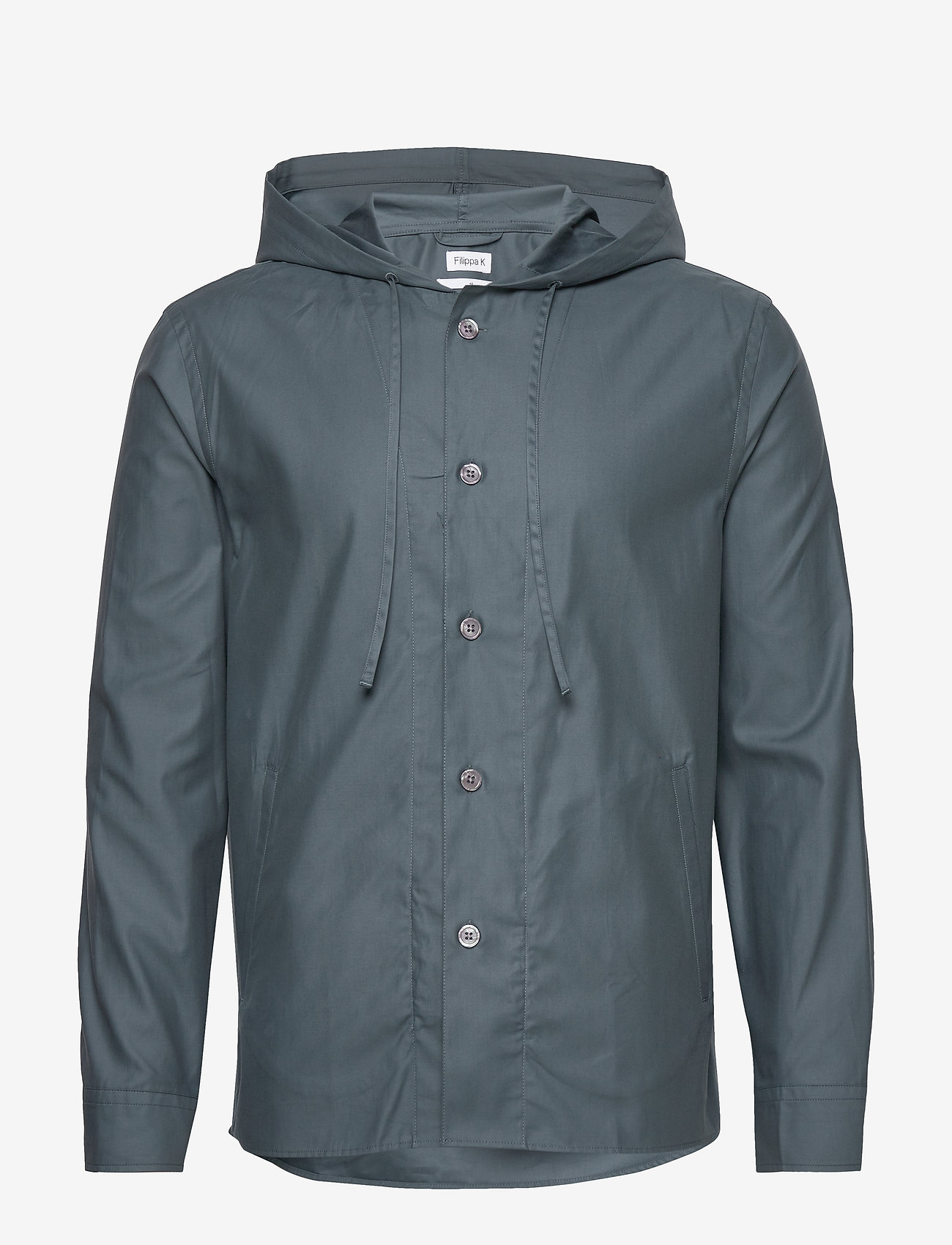 Filippa K - M. Kit Hooded Jacket - kurtki-wiosenne - charcoal b - 1