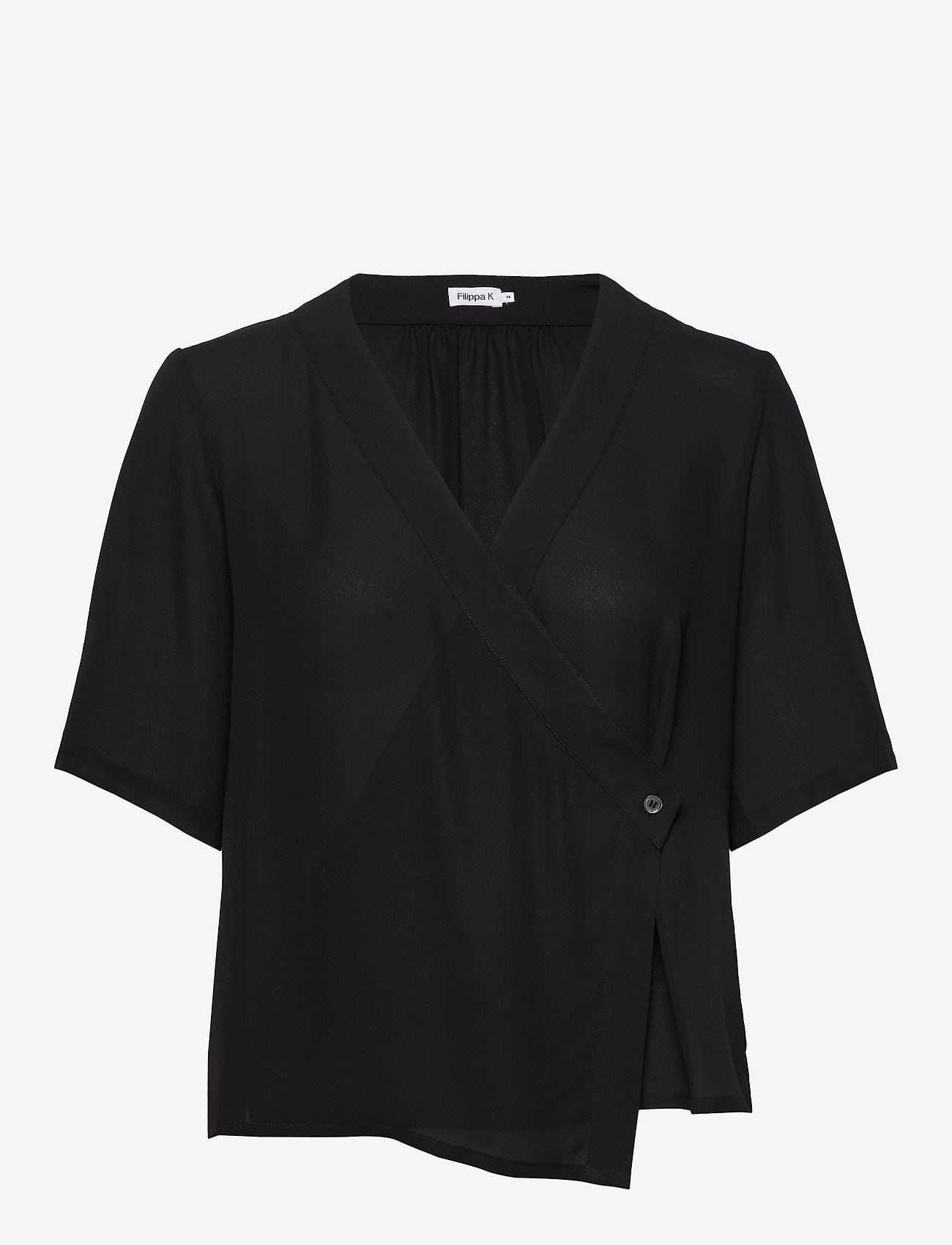 Filippa K - Reagan Blouse - short-sleeved blouses - black - 0