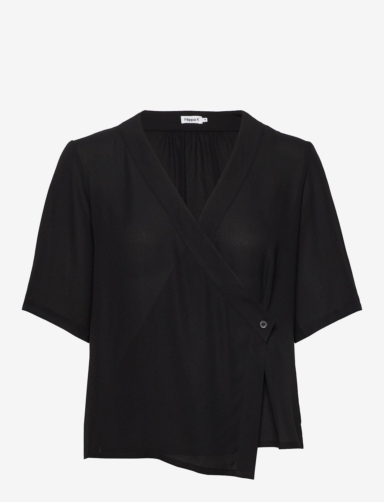 Filippa K - Reagan Blouse - blouses met korte mouwen - black - 0
