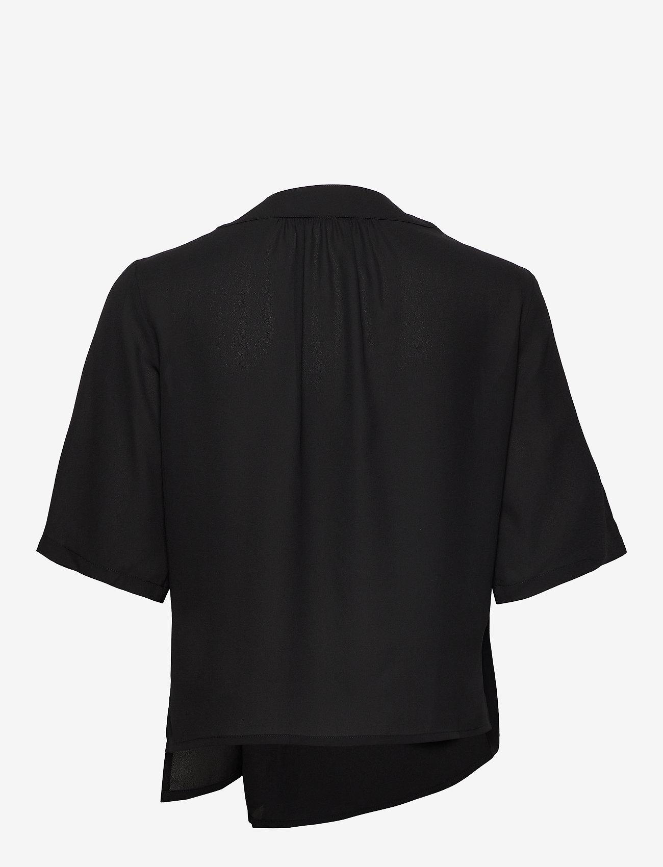 Filippa K - Reagan Blouse - blouses met korte mouwen - black - 1