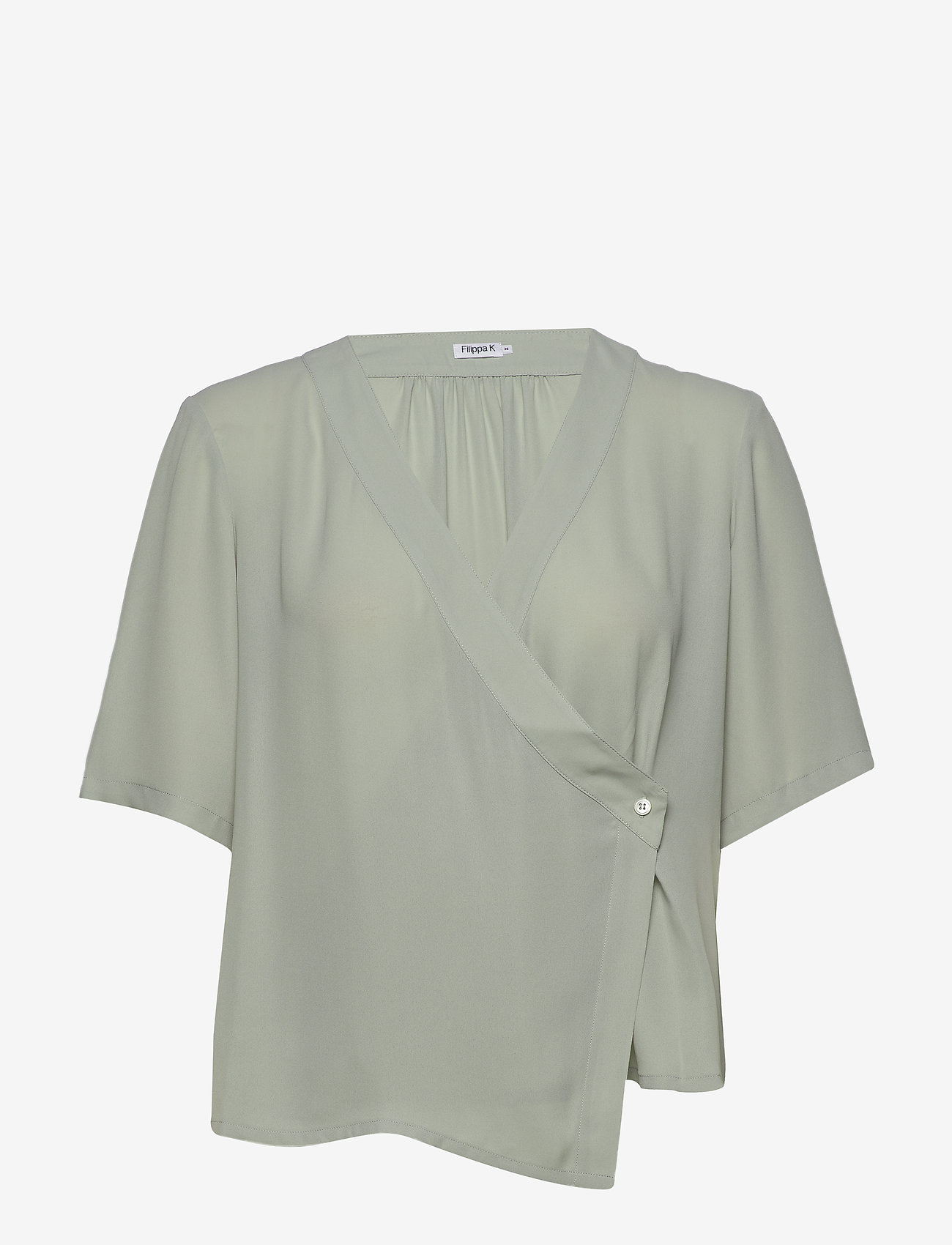 Filippa K - Reagan Blouse - short-sleeved blouses - green fog - 0