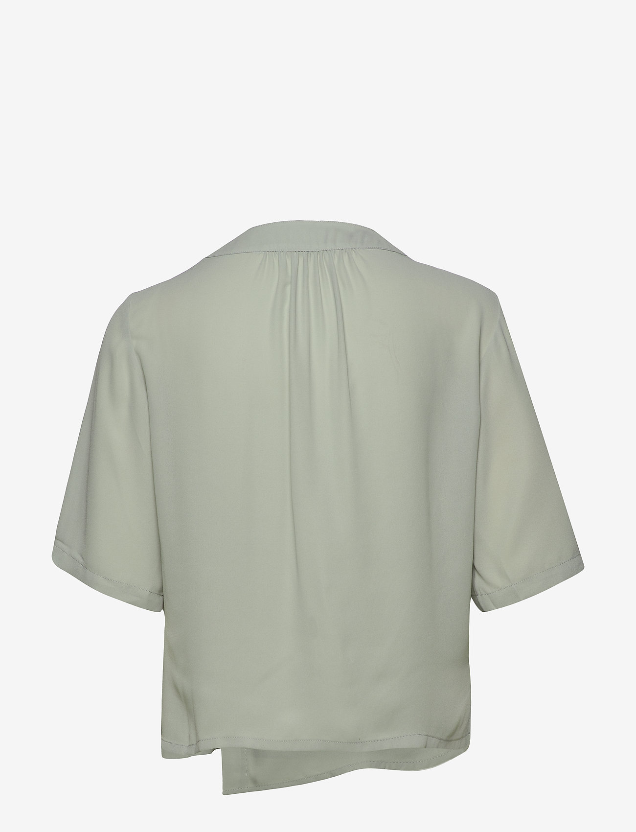 Filippa K - Reagan Blouse - short-sleeved blouses - green fog - 1
