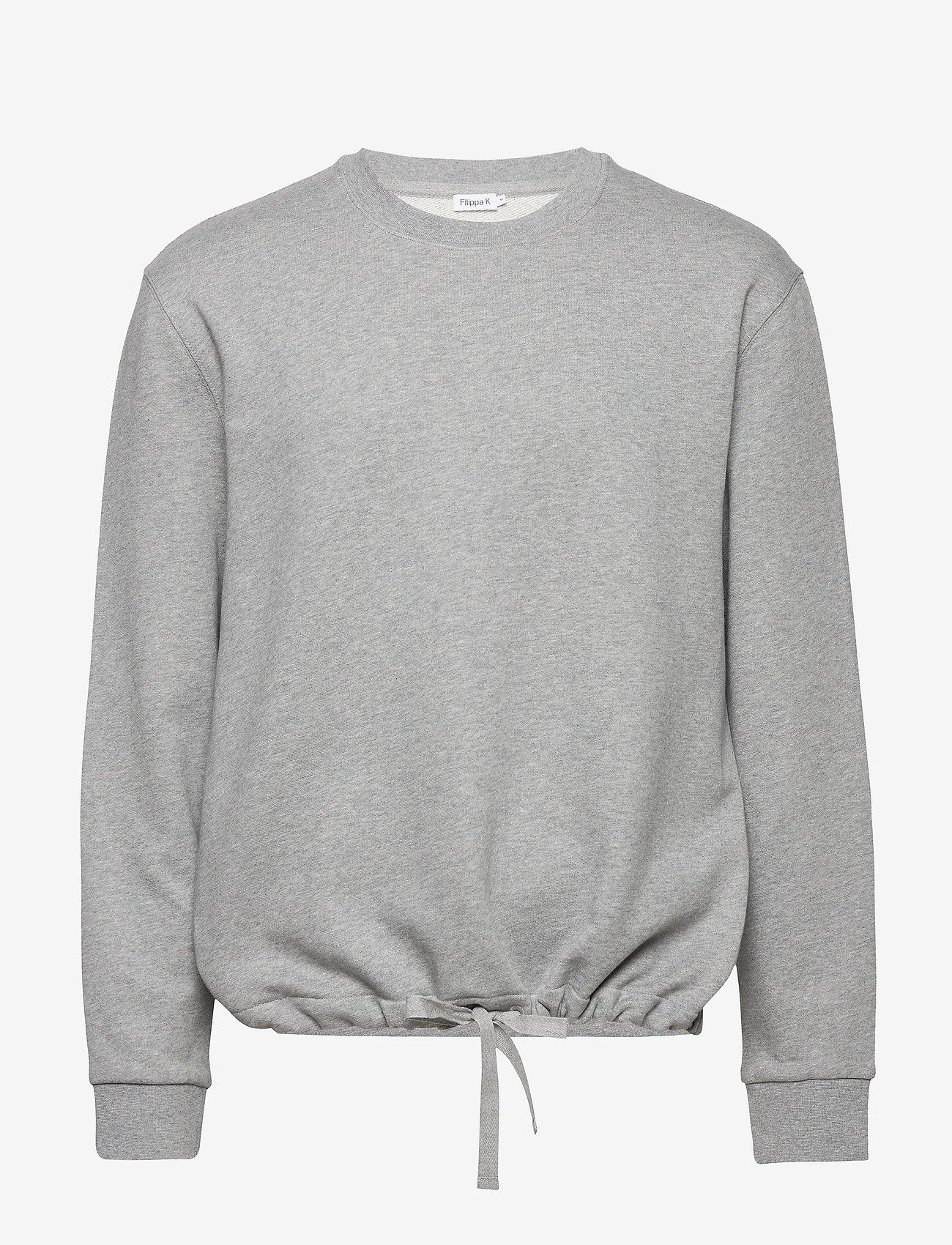 Filippa K - M. Felix Sweater - basic sweatshirts - grey melan - 0