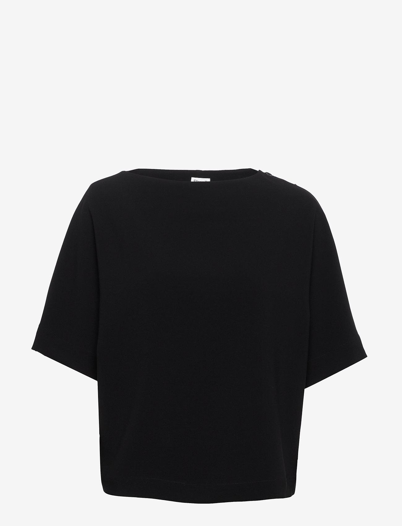 Filippa K - Diane Top - blouses med korte mouwen - black - 0