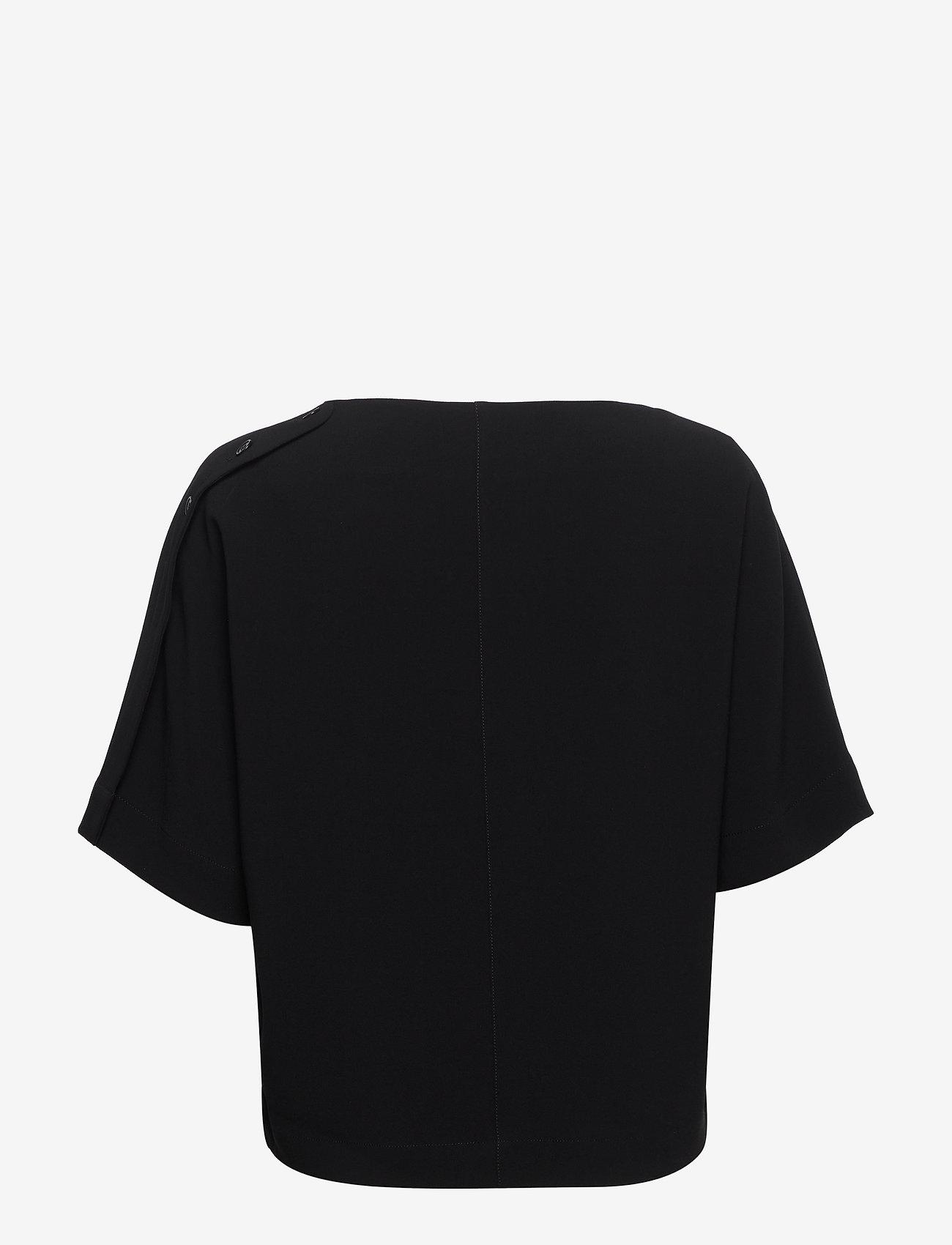 Filippa K - Diane Top - kortärmade blusar - black - 1