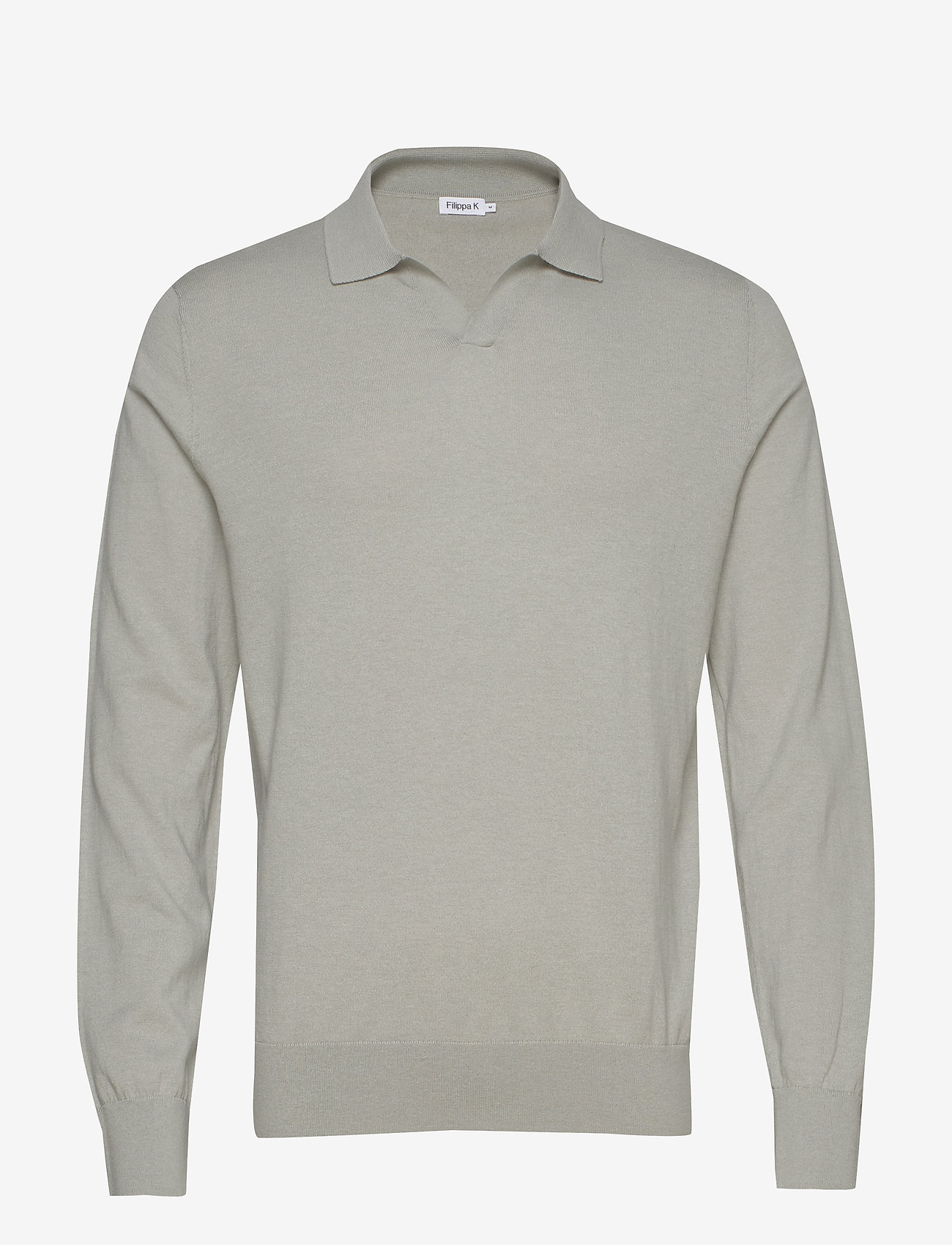 Filippa K - M. Lars Sweater - basic strik - green fog - 0