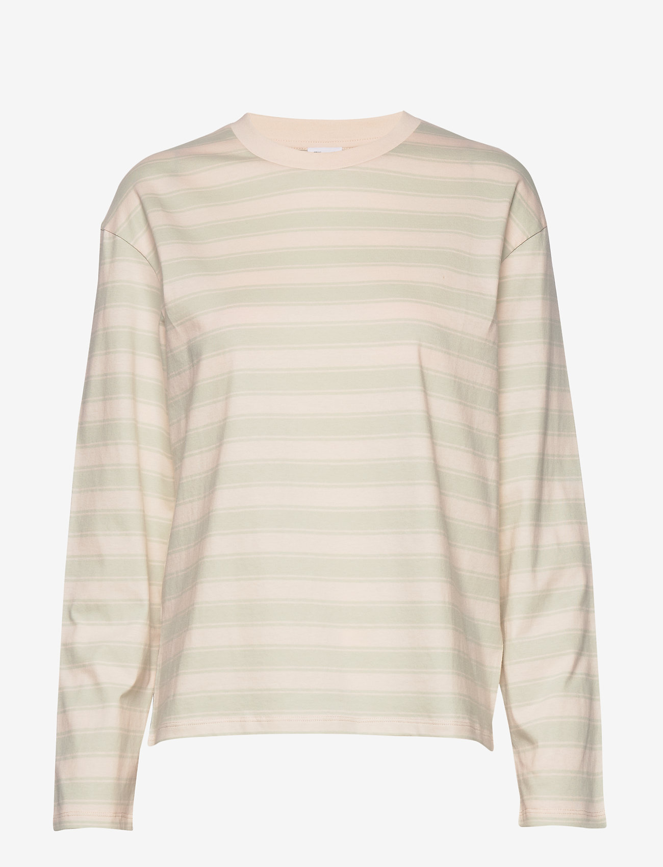 Filippa K - Linnett Top - stribede t-shirts - faded aqua - 0