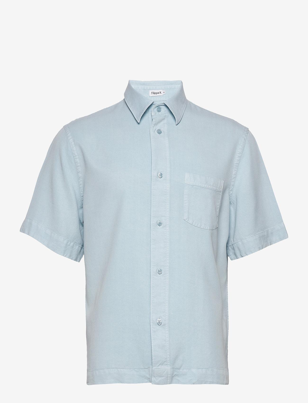 Filippa K - M. Owen Tencel Shirt - basic overhemden - pale blue - 0